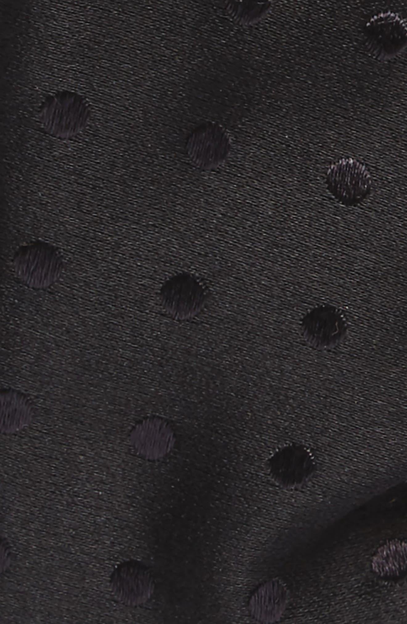 Dot Silk Bow Tie,                             Alternate thumbnail 2, color,                             Black