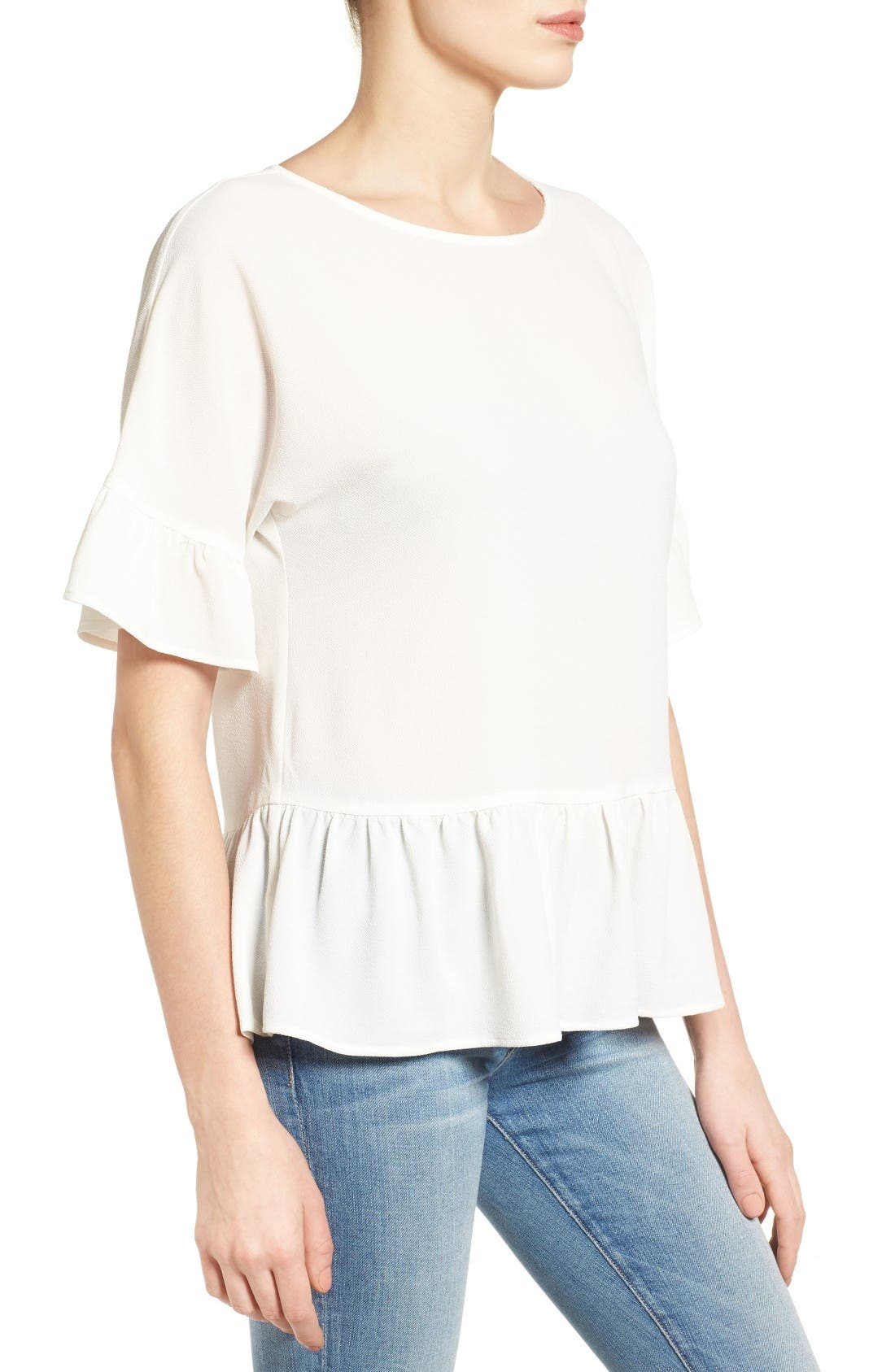 Alternate Image 3  - Gibson Ruffle Hem Top (Regular & Petite)