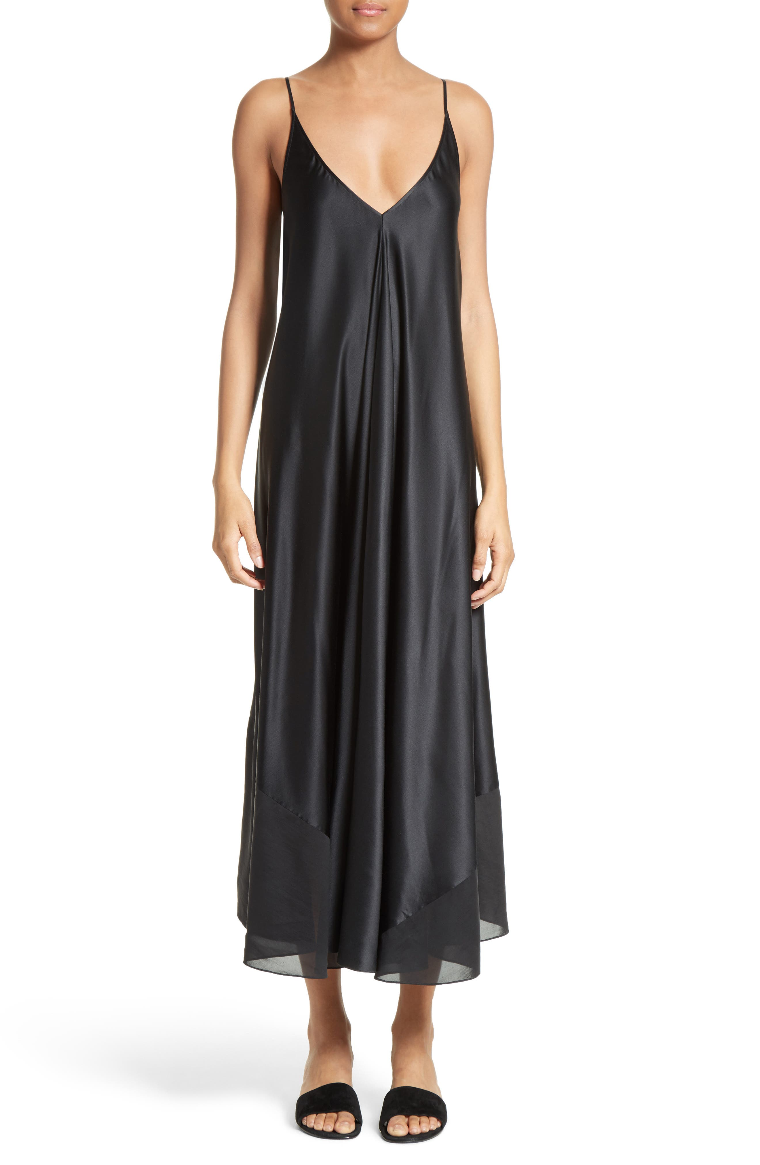 Alternate Image 1 Selected - T by Alexander Wang Silk Charmeuse Midi Dress
