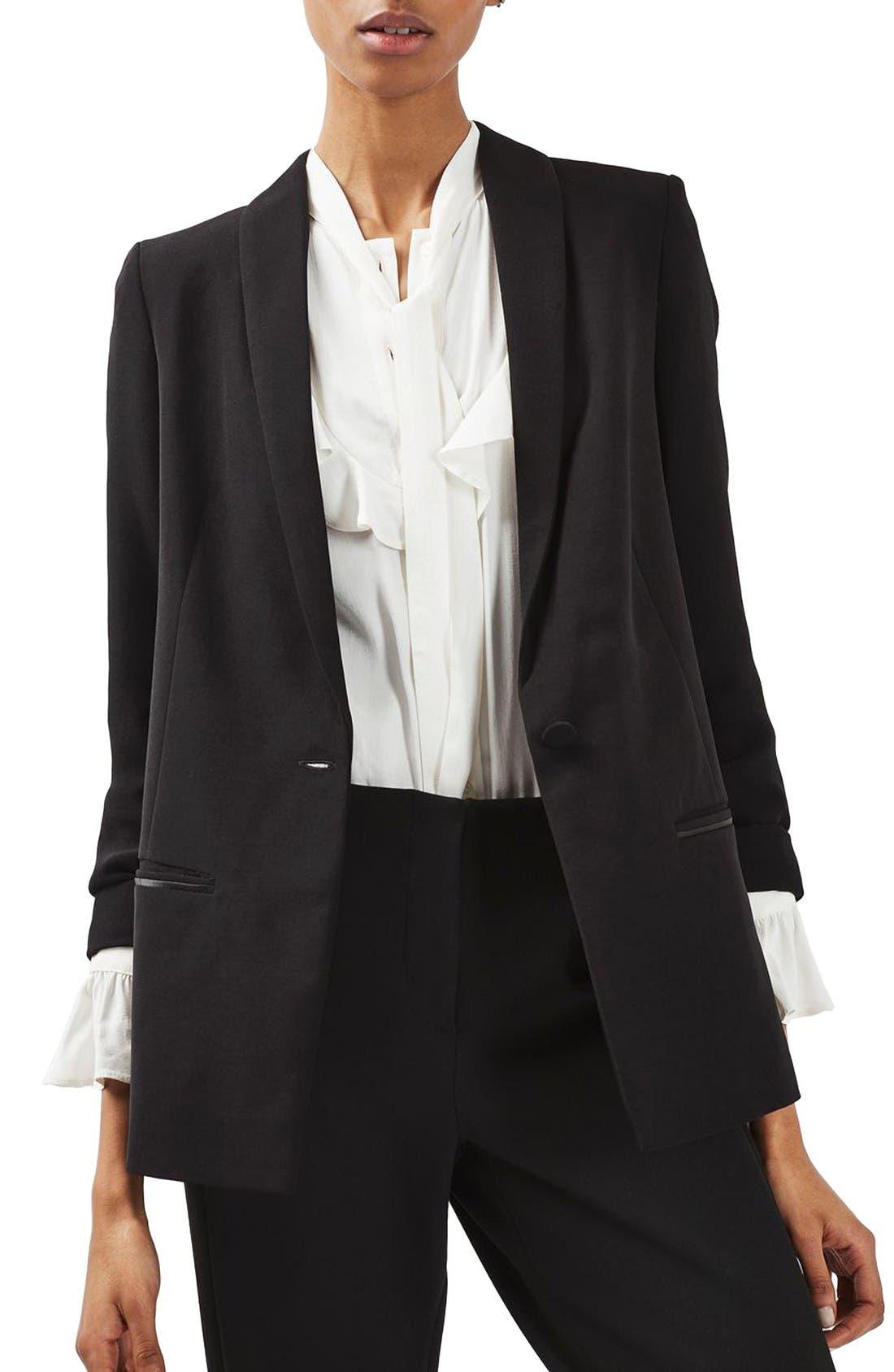 Alternate Image 4  - Topshop Slouch Tuxedo Jacket