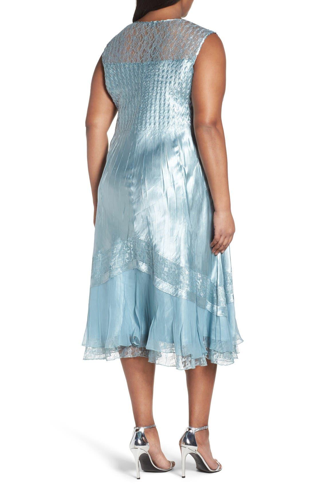 Alternate Image 4  - Komarov Lace Trim Jacket Dress (Plus Size)
