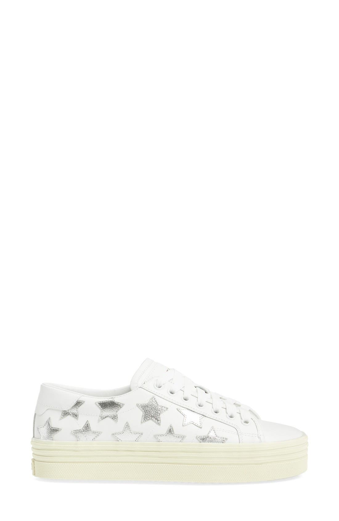 Double Court Classic Sneaker,                             Alternate thumbnail 4, color,                             Ivory