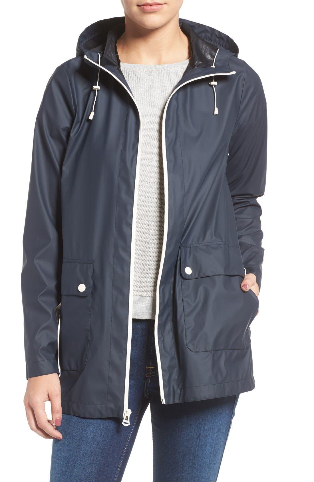 Cole Haan Hooded Rain Jacket