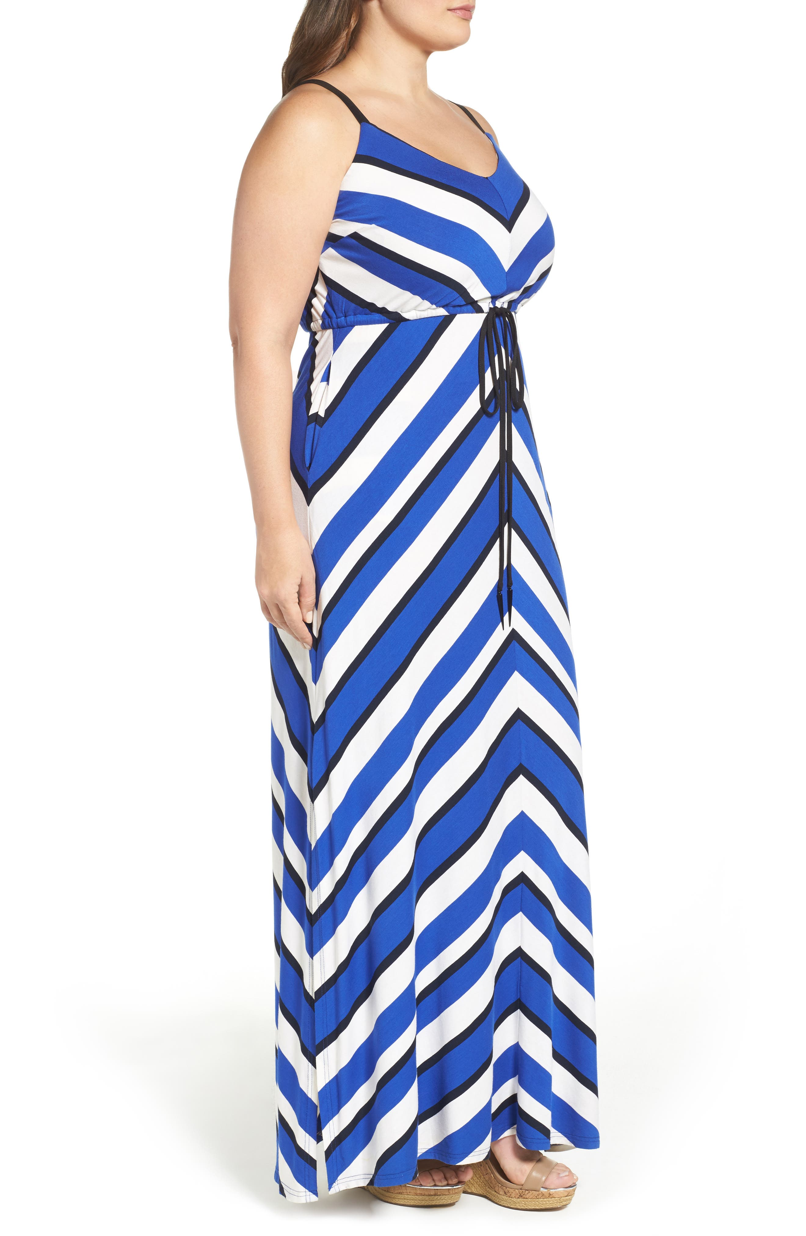 Alternate Image 3  - City Chic Stripe Maxi Dress (Plus Size)