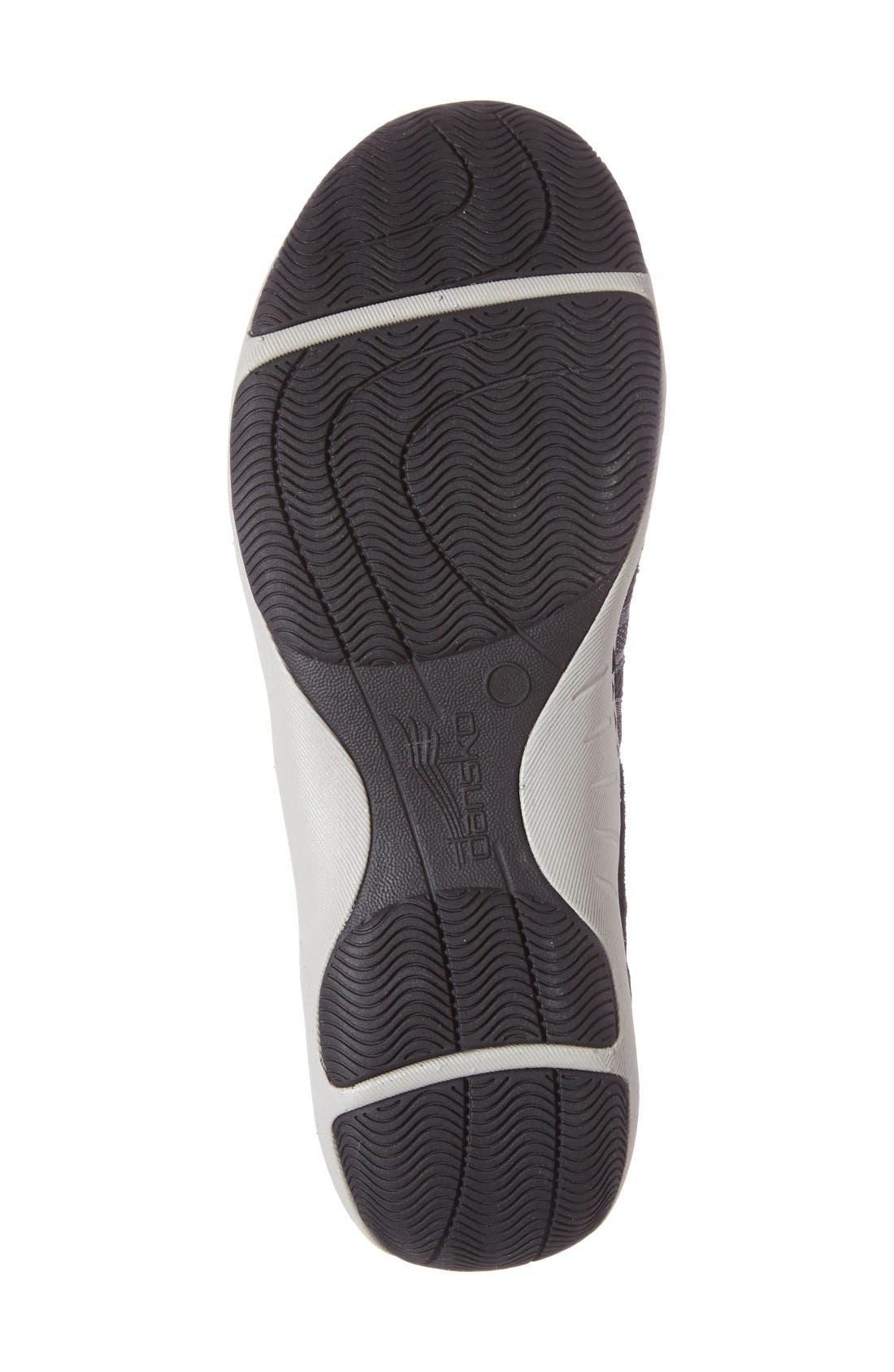 Honey Slip-On Sneaker,                             Alternate thumbnail 4, color,                             Black Suede