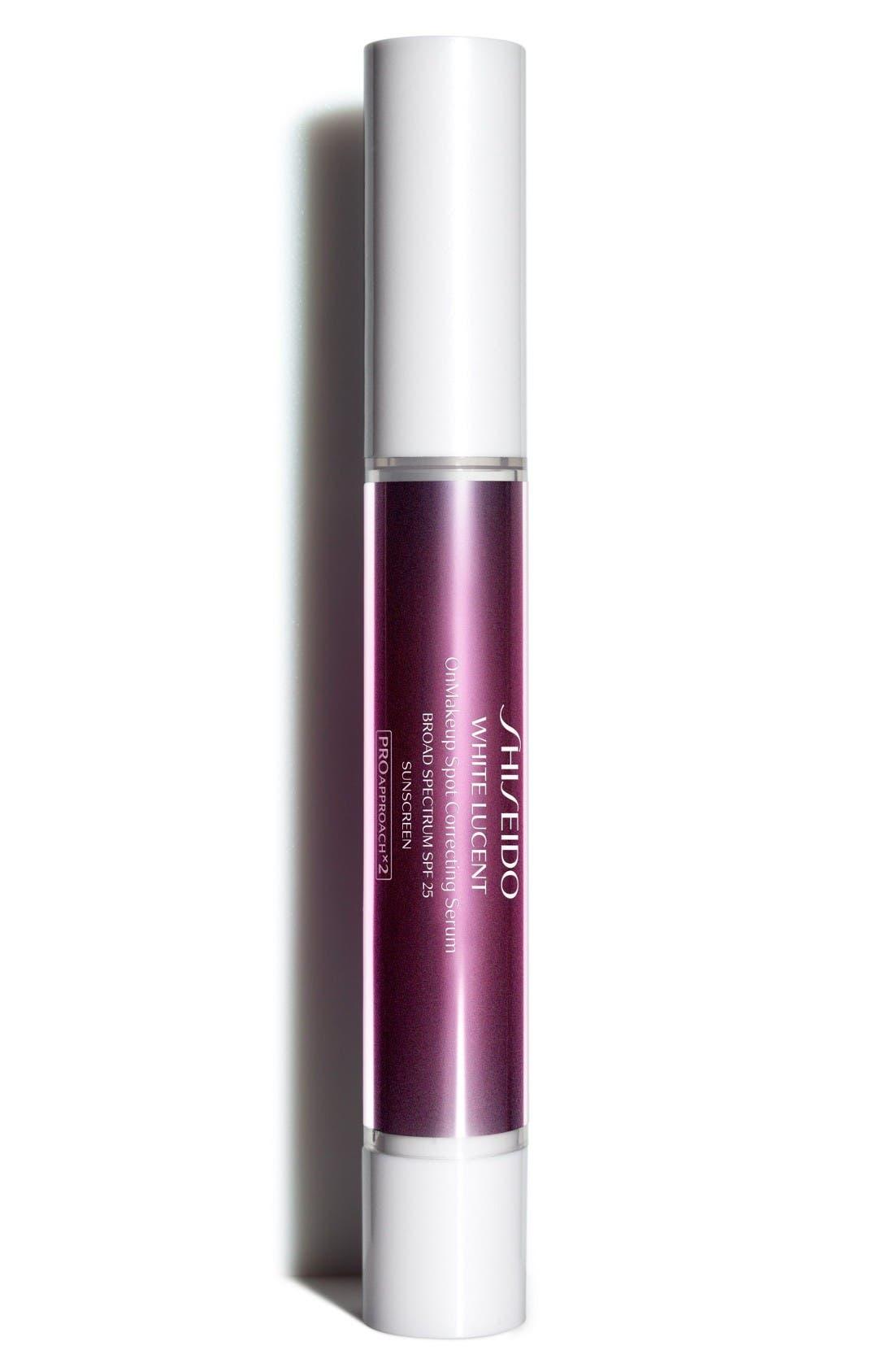 Main Image - Shiseido White Lucent OnMakeup Spot Correcting Serum Broad Spectrum SPF 25