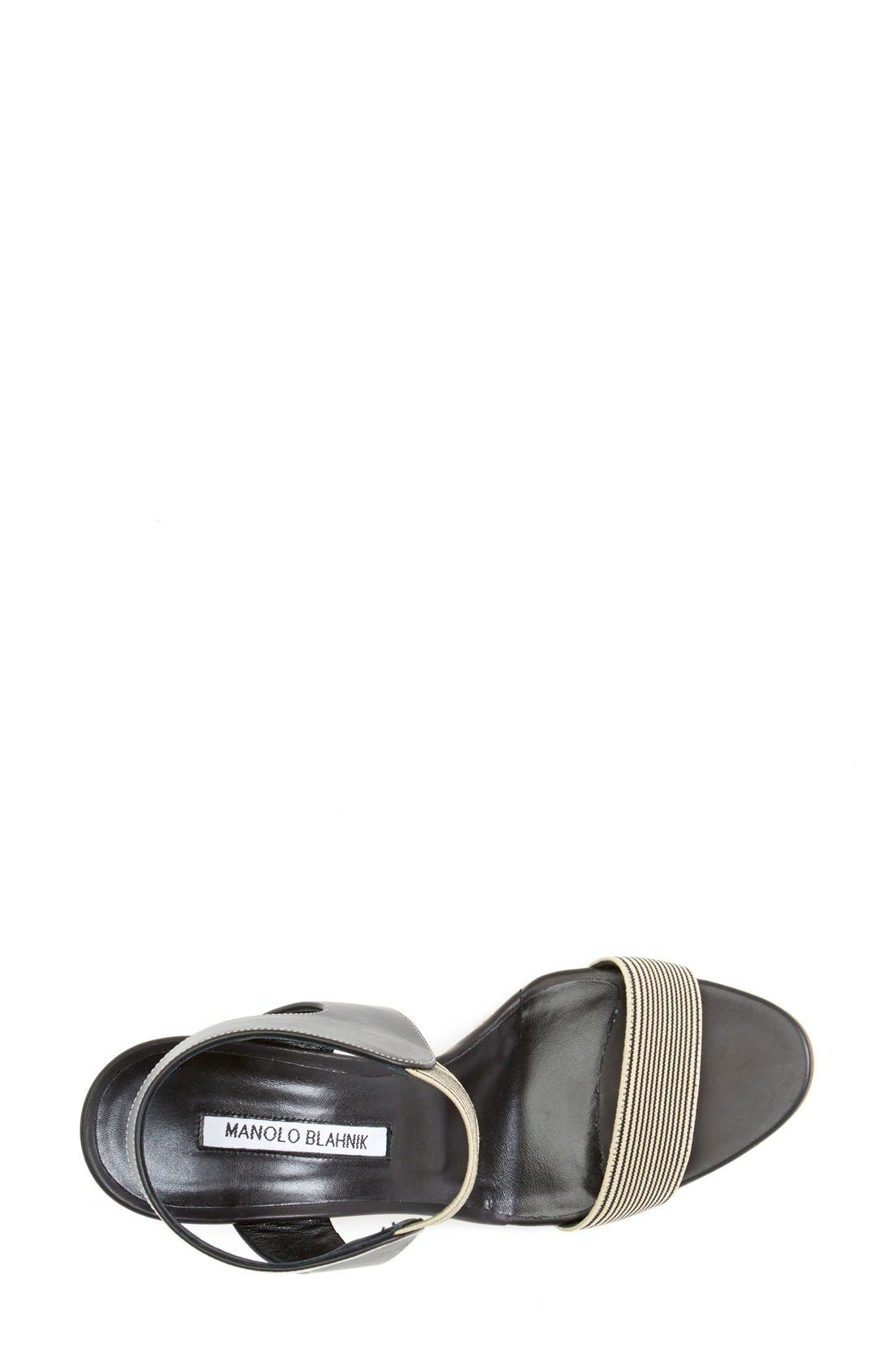 Alternate Image 3  - Manolo Blahnik Ankle Strap Wedge Sandal (Women)