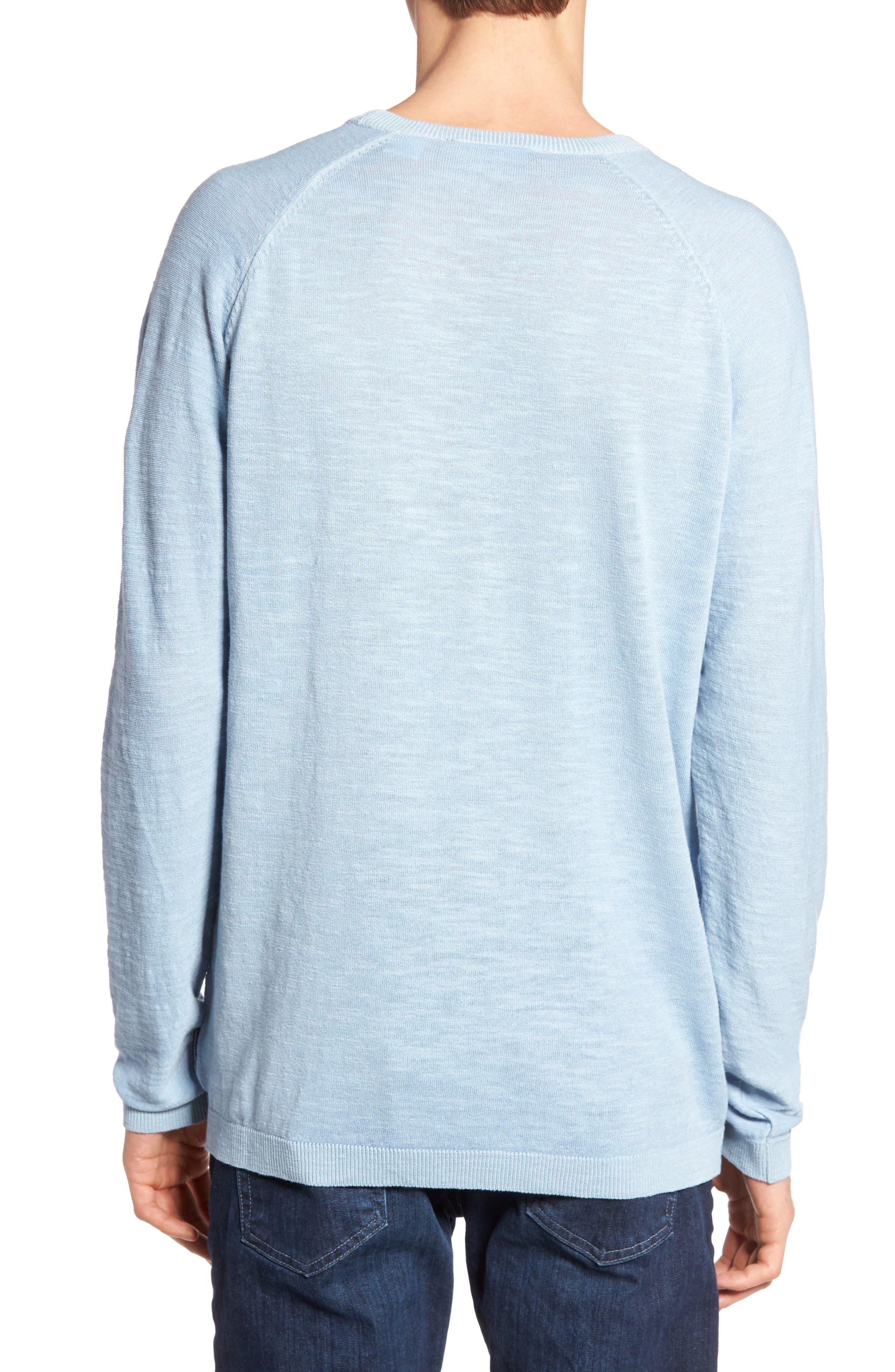 Arambol Cotton & Linen Sweater,                             Alternate thumbnail 2, color,                             Blue Lagoon