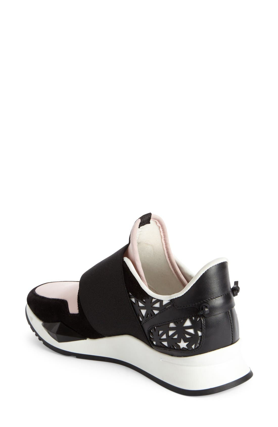 Slip-On Sneaker,                             Alternate thumbnail 2, color,                             Black/ Pink