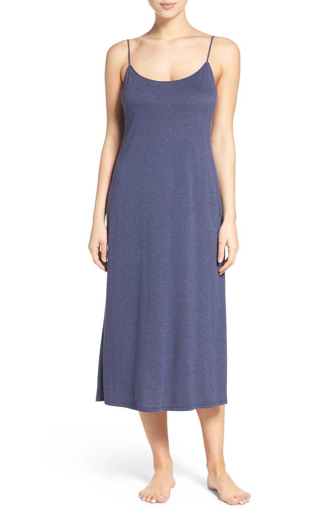 Shangri La Nightgown,                         Main,                         color, Heather Night Blue