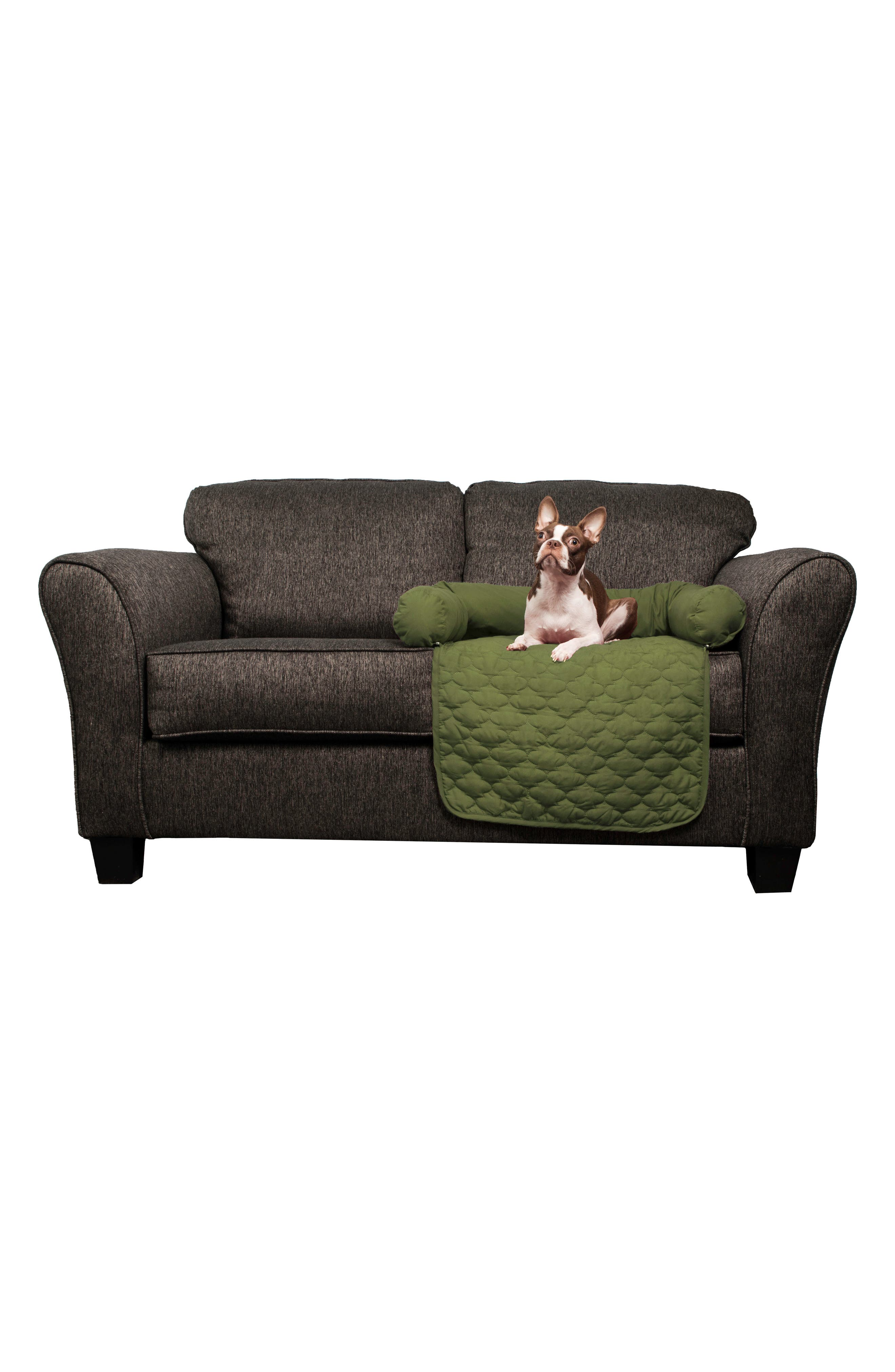 Wubba Reversible Pet Bed,                             Main thumbnail 1, color,                             Sage/ Chocolate