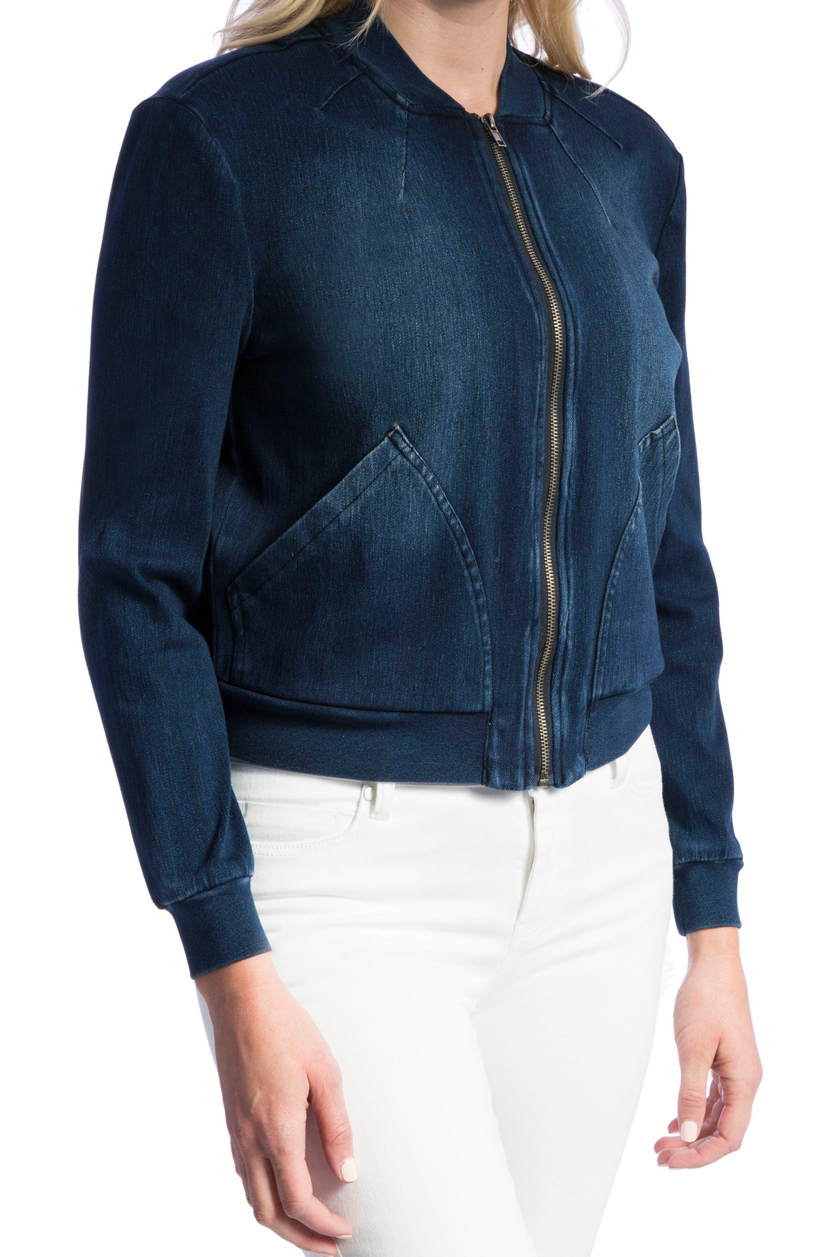 Alternate Image 3  - Liverpool Jeans Company Denim Knit Bomber Jacket