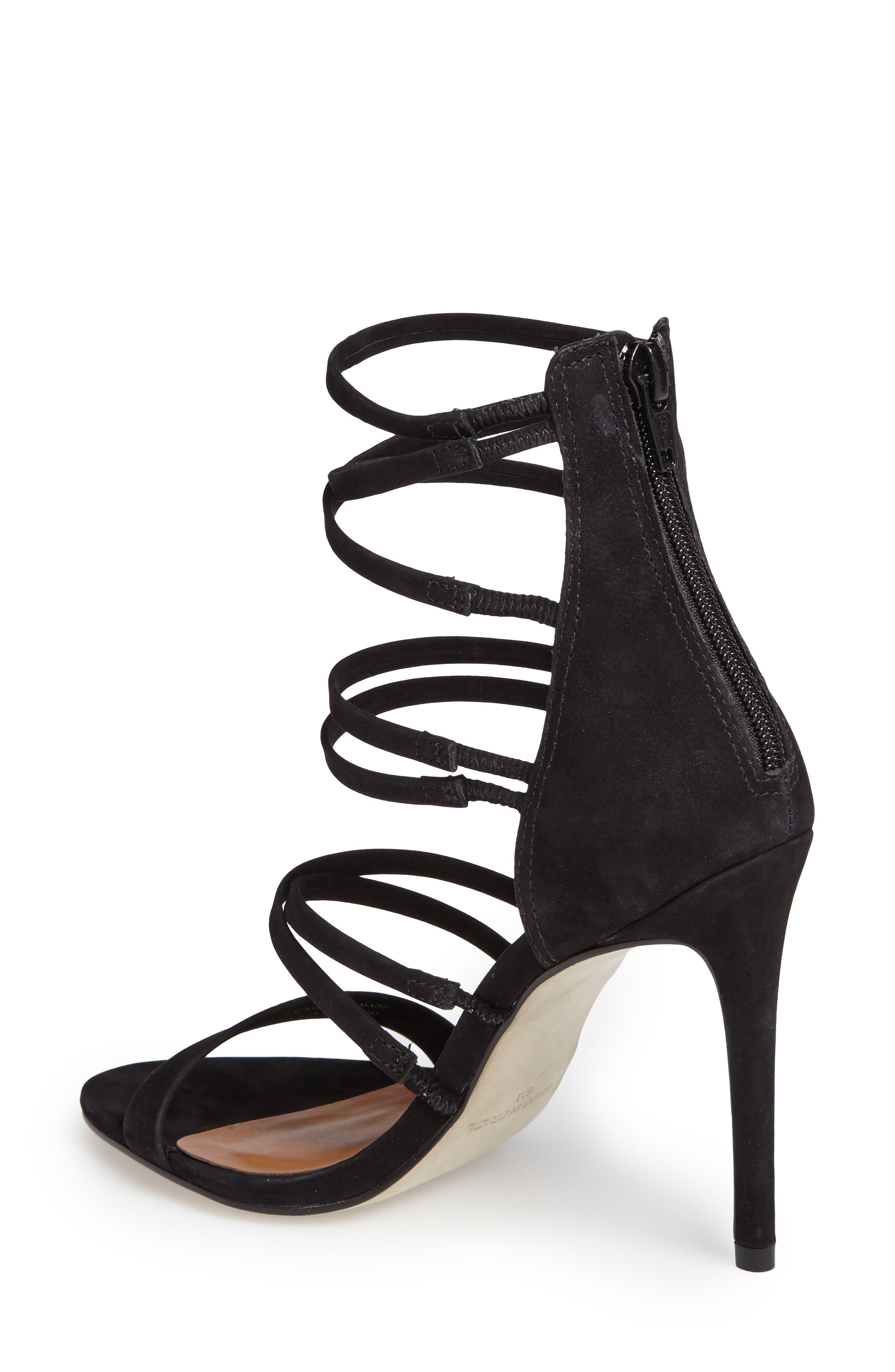 Tierney Sandal,                             Alternate thumbnail 2, color,                             Black Nubuck Leather