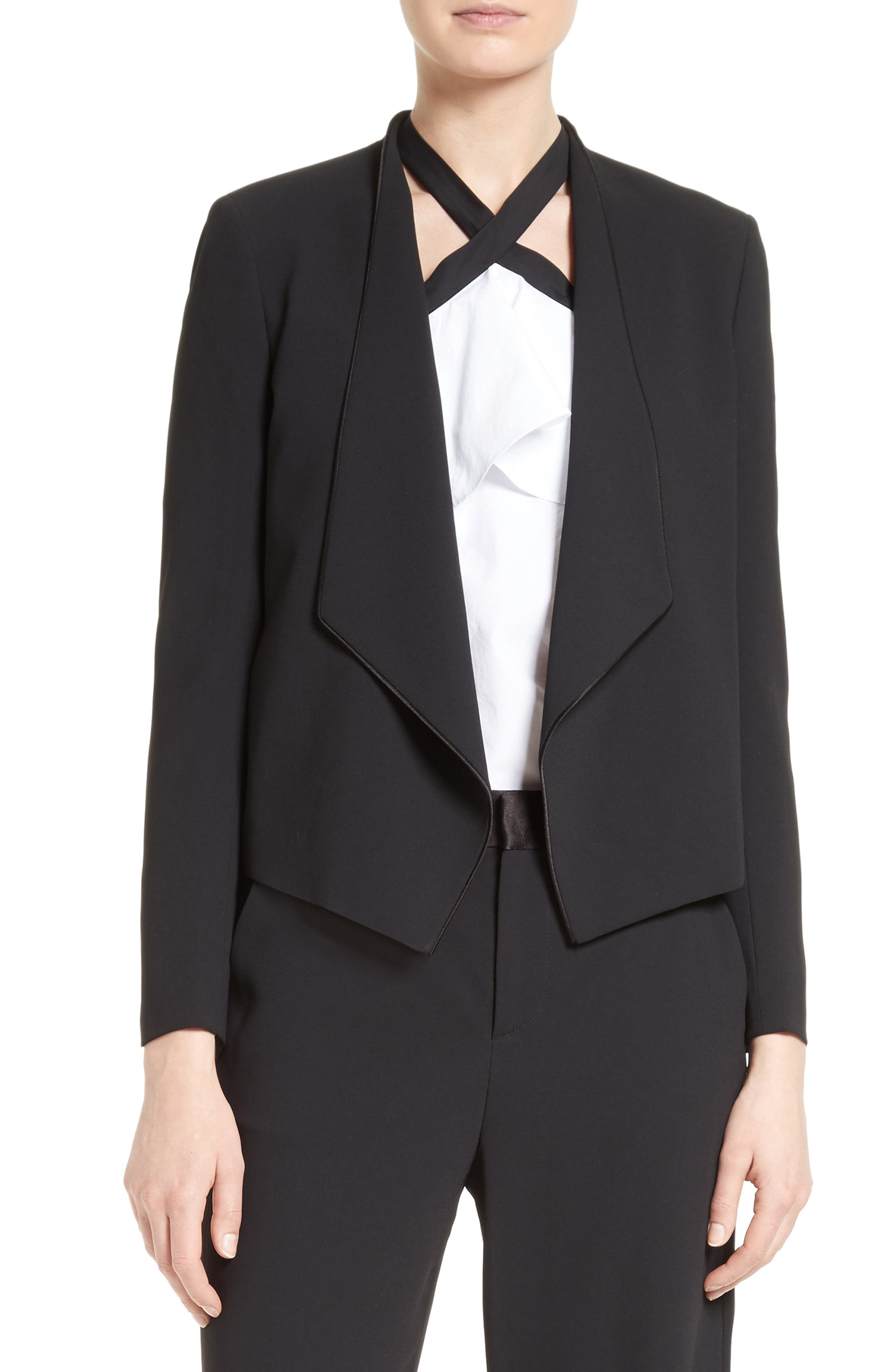 ALICE + OLIVIA Draped Shawl Collar Blazer