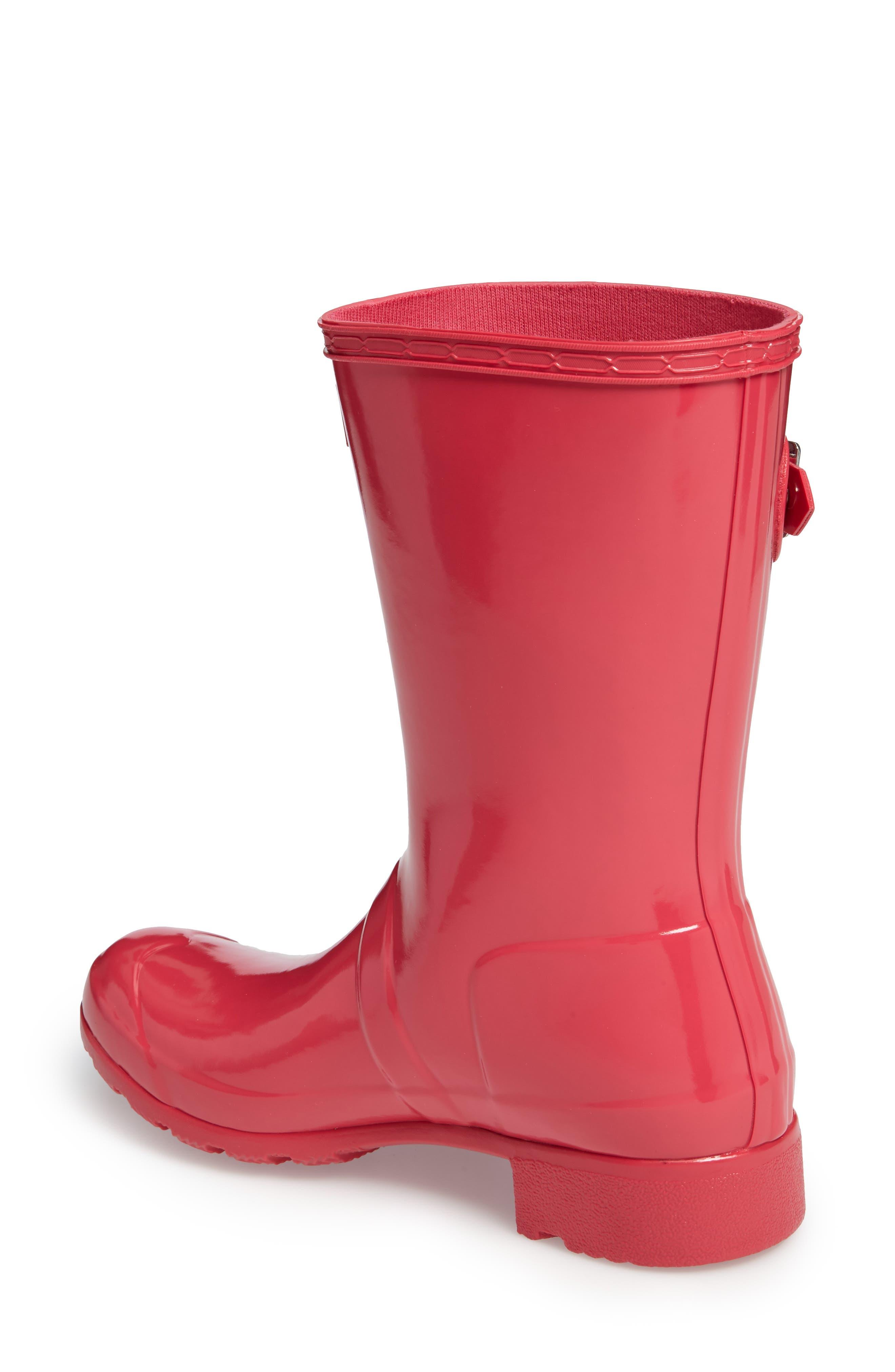 Alternate Image 2  - Hunter Original Tour Short Gloss Packable Rain Boot (Women)