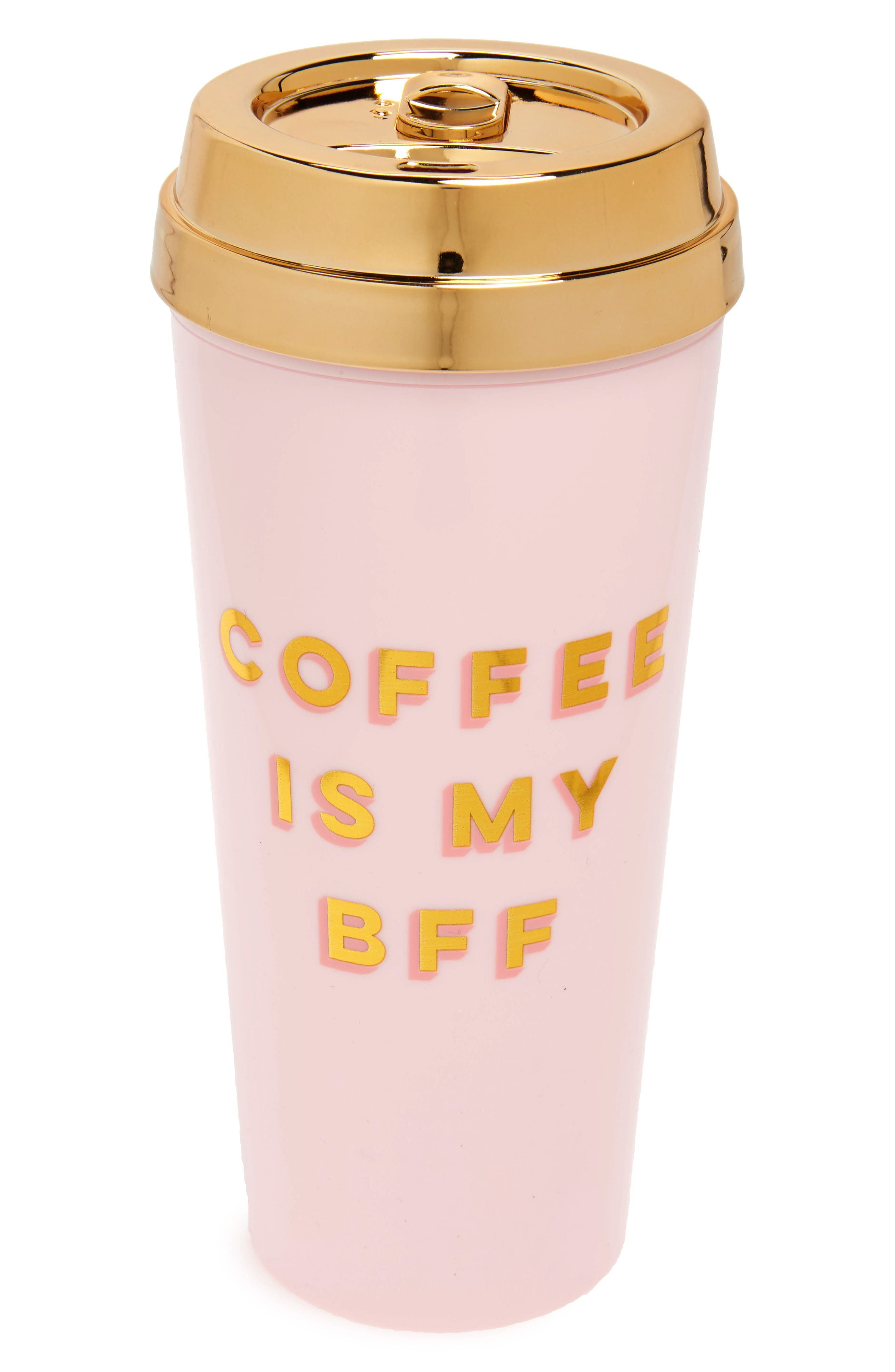 BFF Deluxe Thermal Travel Mug,                         Main,                         color, Pink