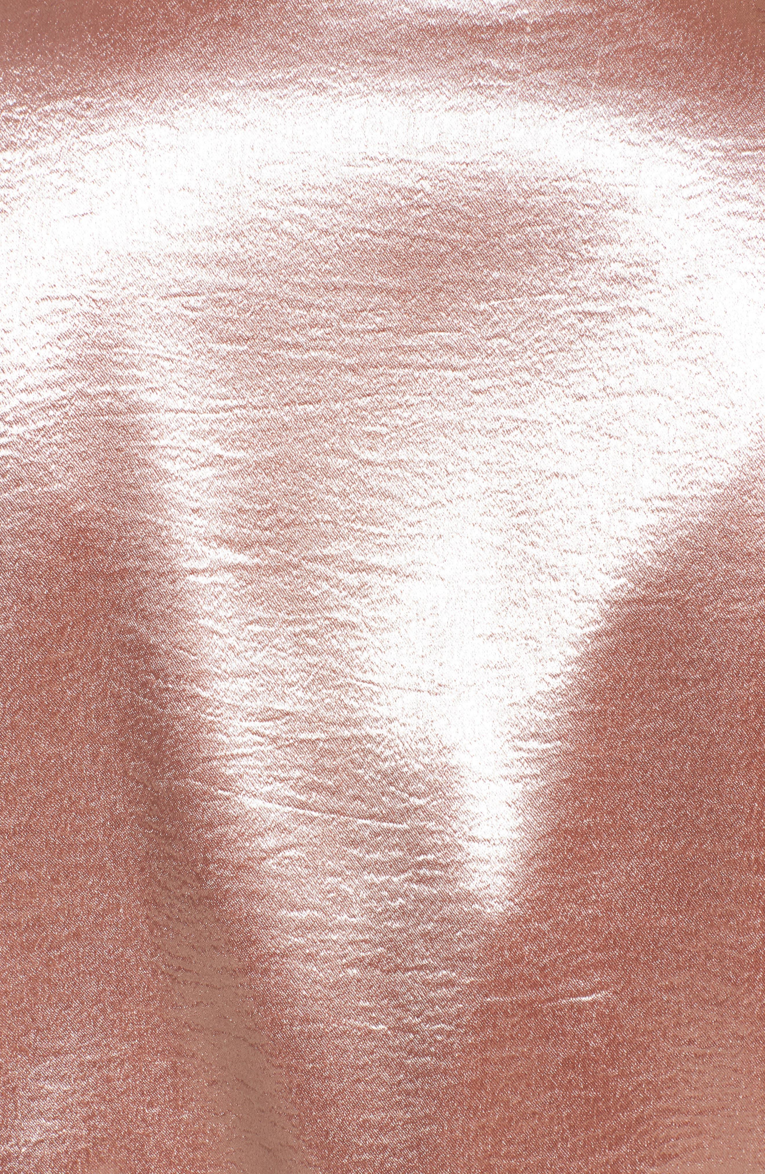 Satin Varsity Jacket,                             Alternate thumbnail 5, color,                             Blush