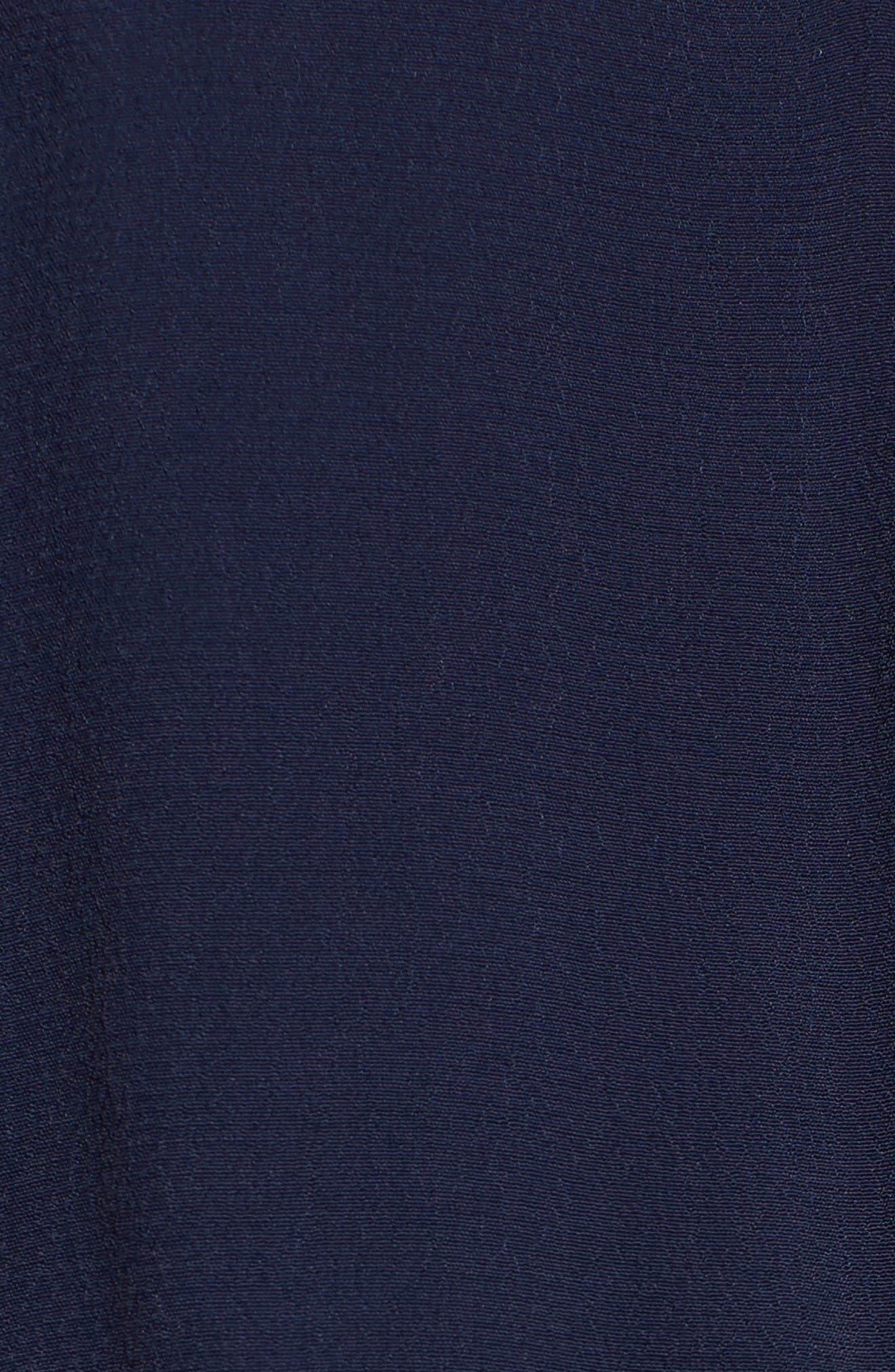 Cold Shoulder Crepe Jumpsuit,                             Alternate thumbnail 5, color,                             Navy