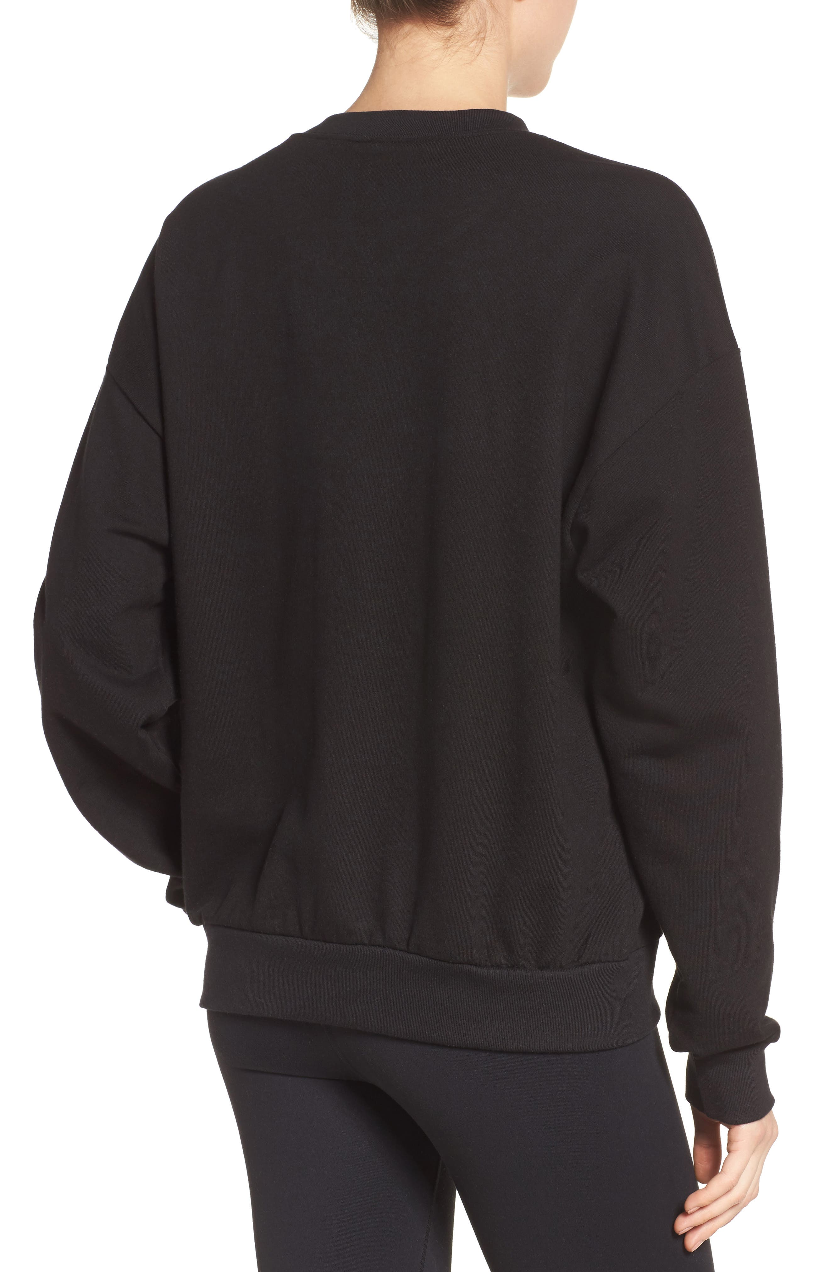 Yoga & Chill Sweatshirt,                             Alternate thumbnail 2, color,                             Black