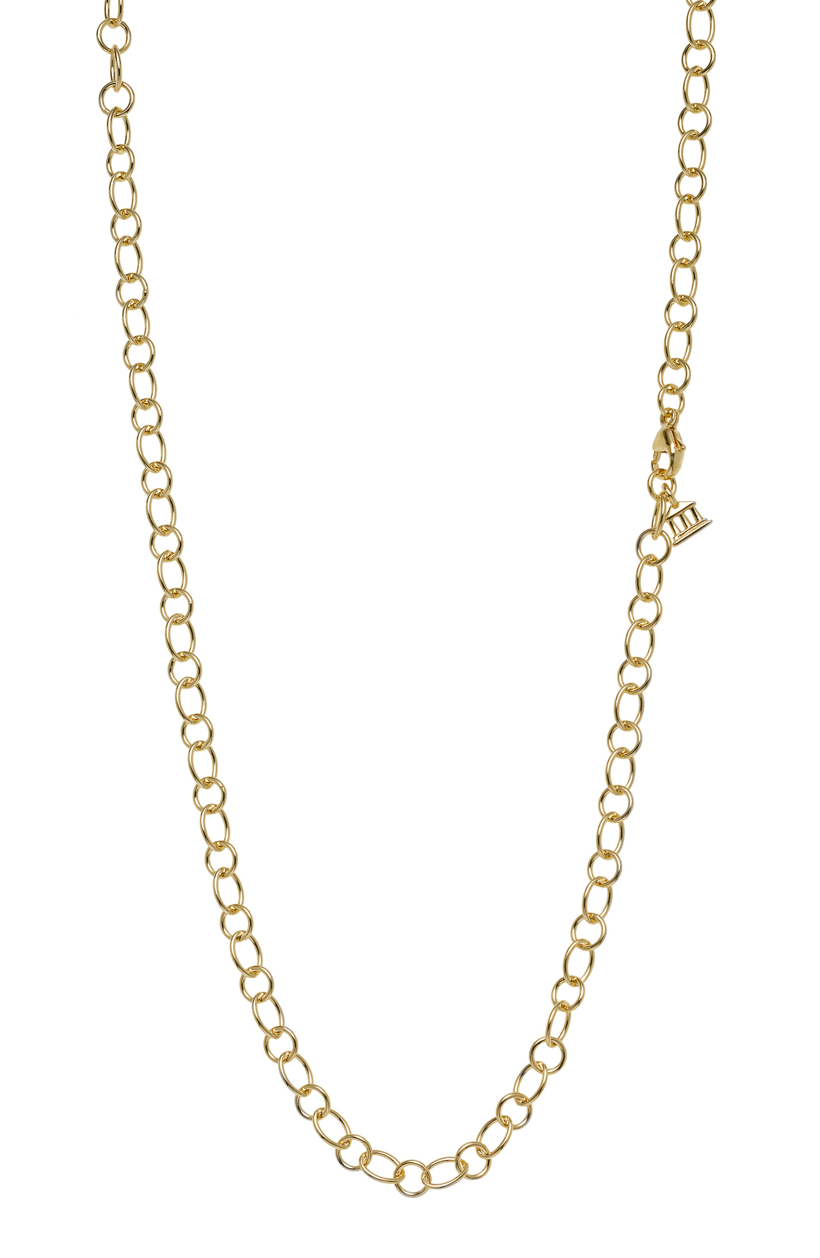 Temple St. Clair 18-Inch Ribbon Chain Necklace,                         Main,                         color, 18Kyg