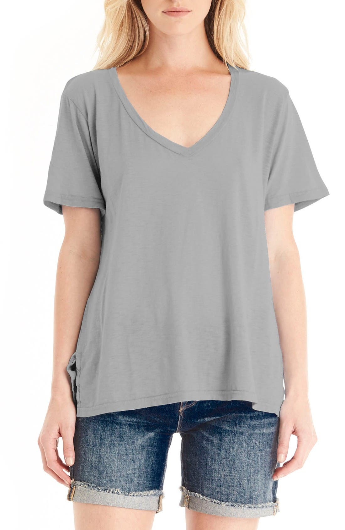 MICHAEL STARS V-Neck Supima<sup>®</sup> Cotton Tee