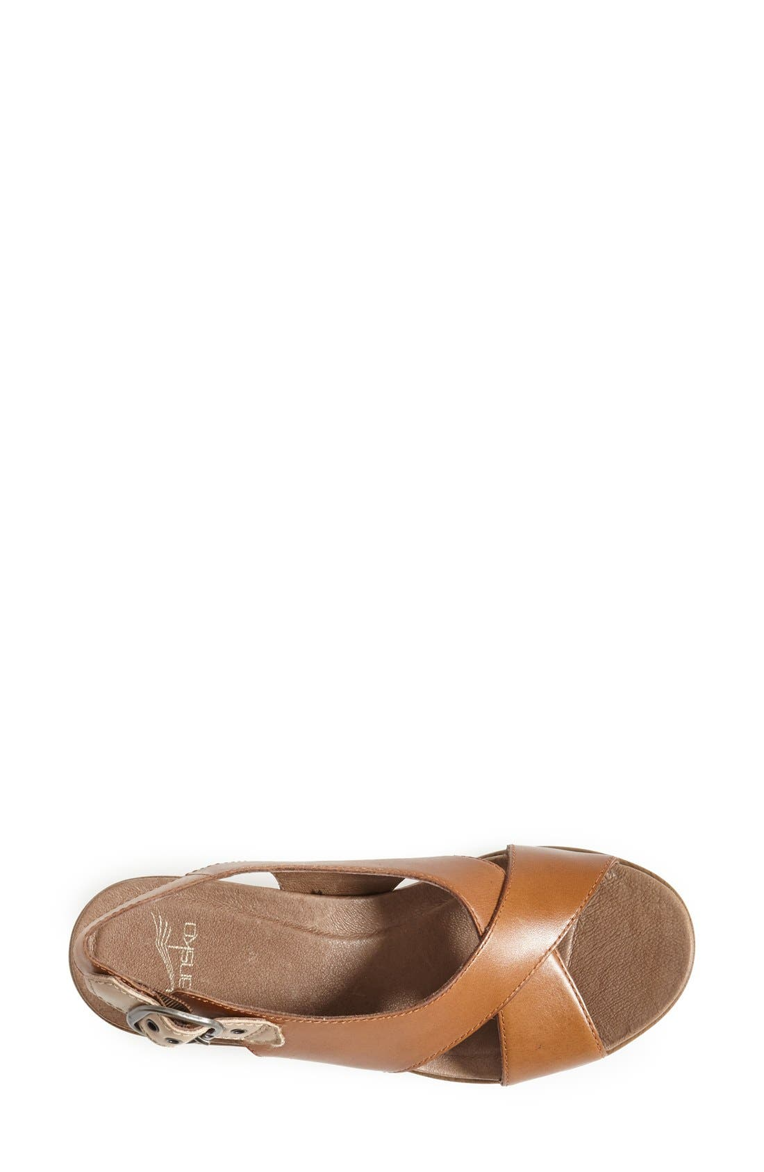 'Jacinda' Sandal,                             Alternate thumbnail 3, color,                             Caramel