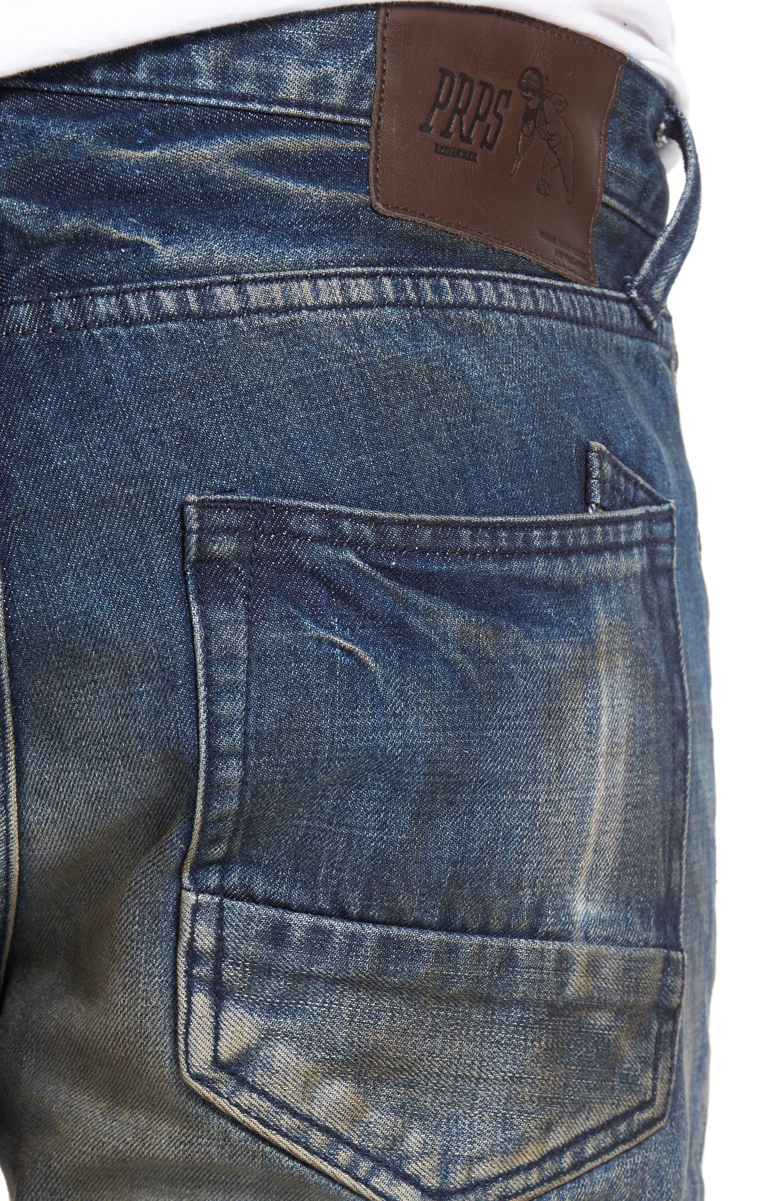 Alternate Image 4  - PRPS Demon Slim Straight Leg Jeans