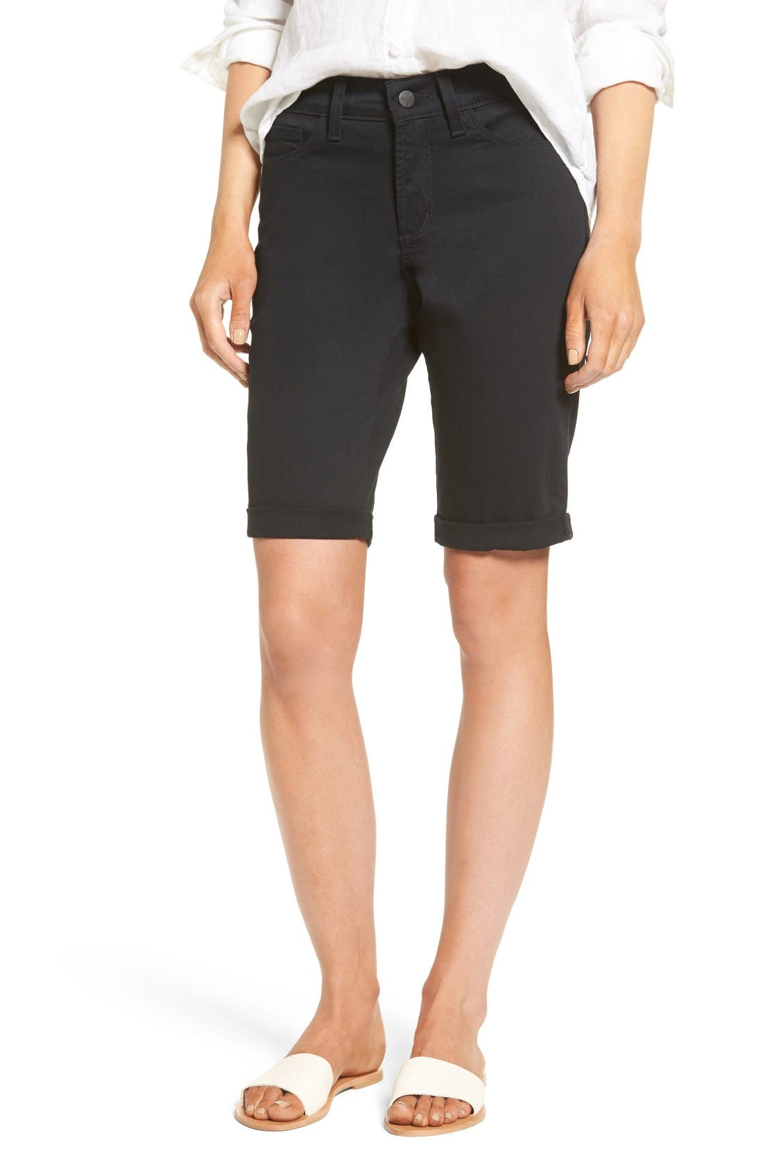 NYDJ Briella Roll Cuff Denim Shorts (Regular & Petite)