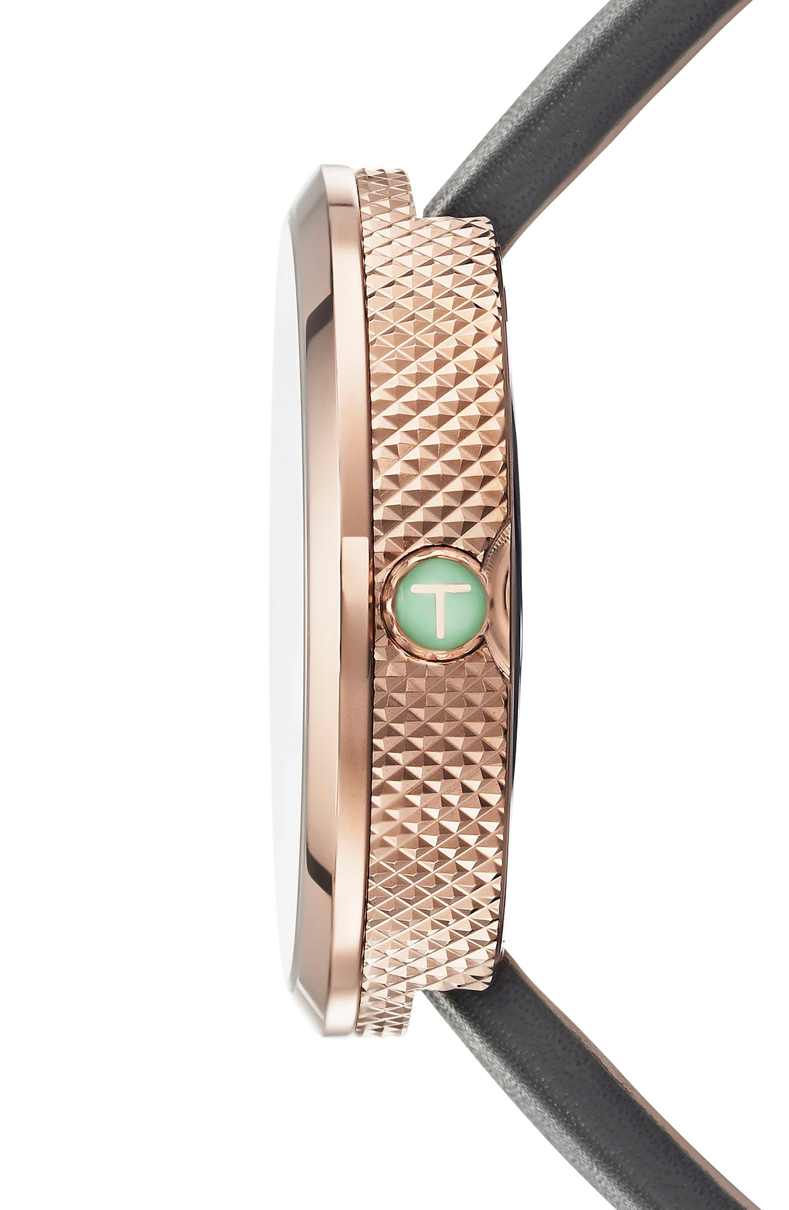 Alternate Image 3  - Ted Baker London Jack Multifunction Leather Strap Watch, 40mm