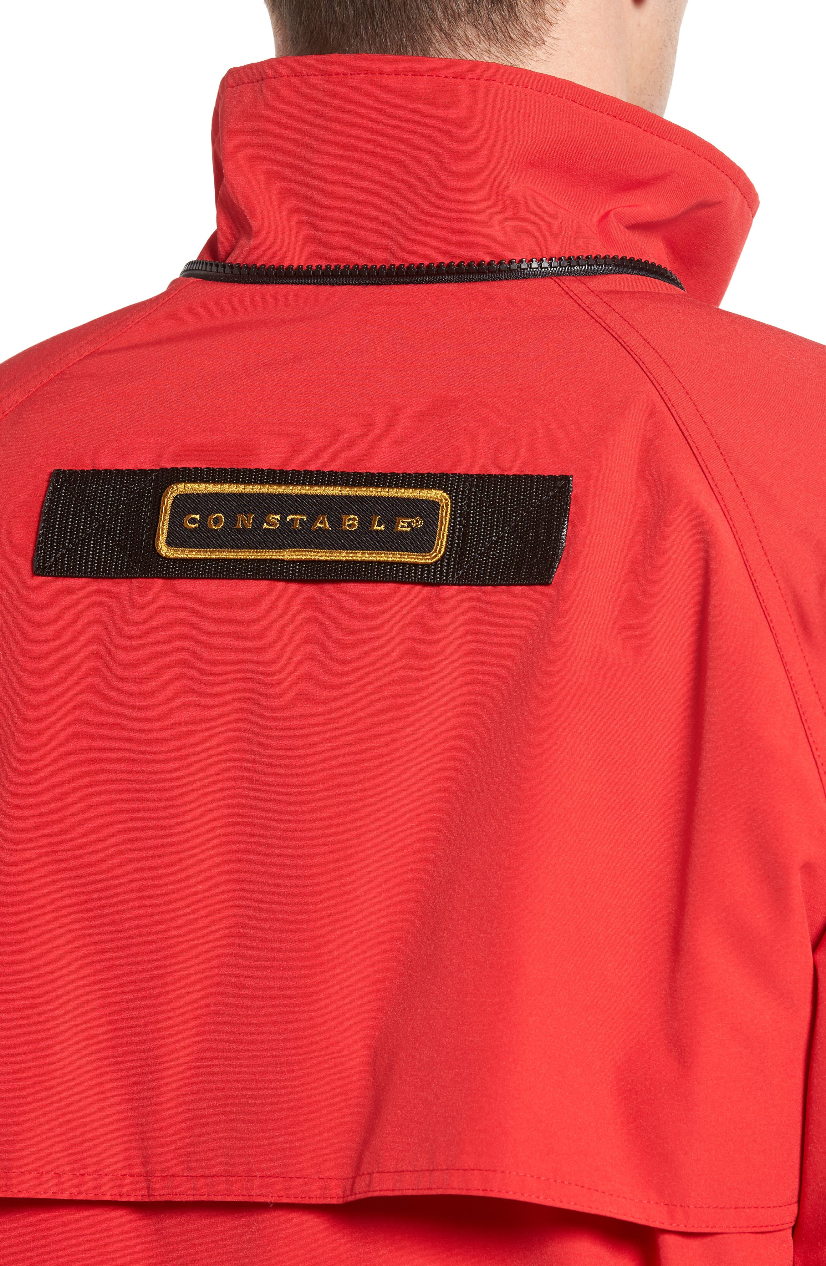 'Constable' Regular Fit Water Resistant Down Parka,                             Alternate thumbnail 4, color,                             Red