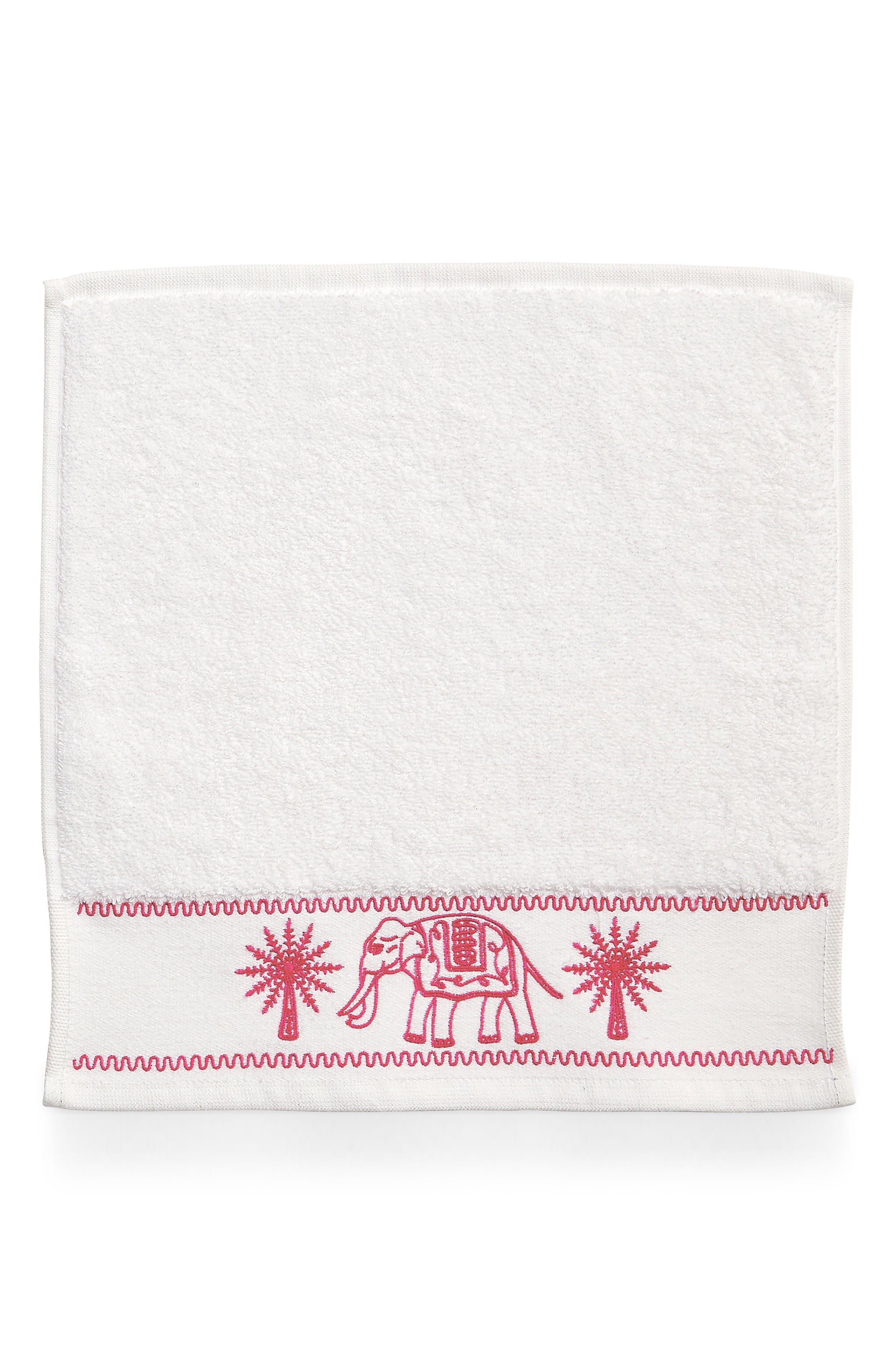 Yaji Washcloth,                         Main,                         color, Pink
