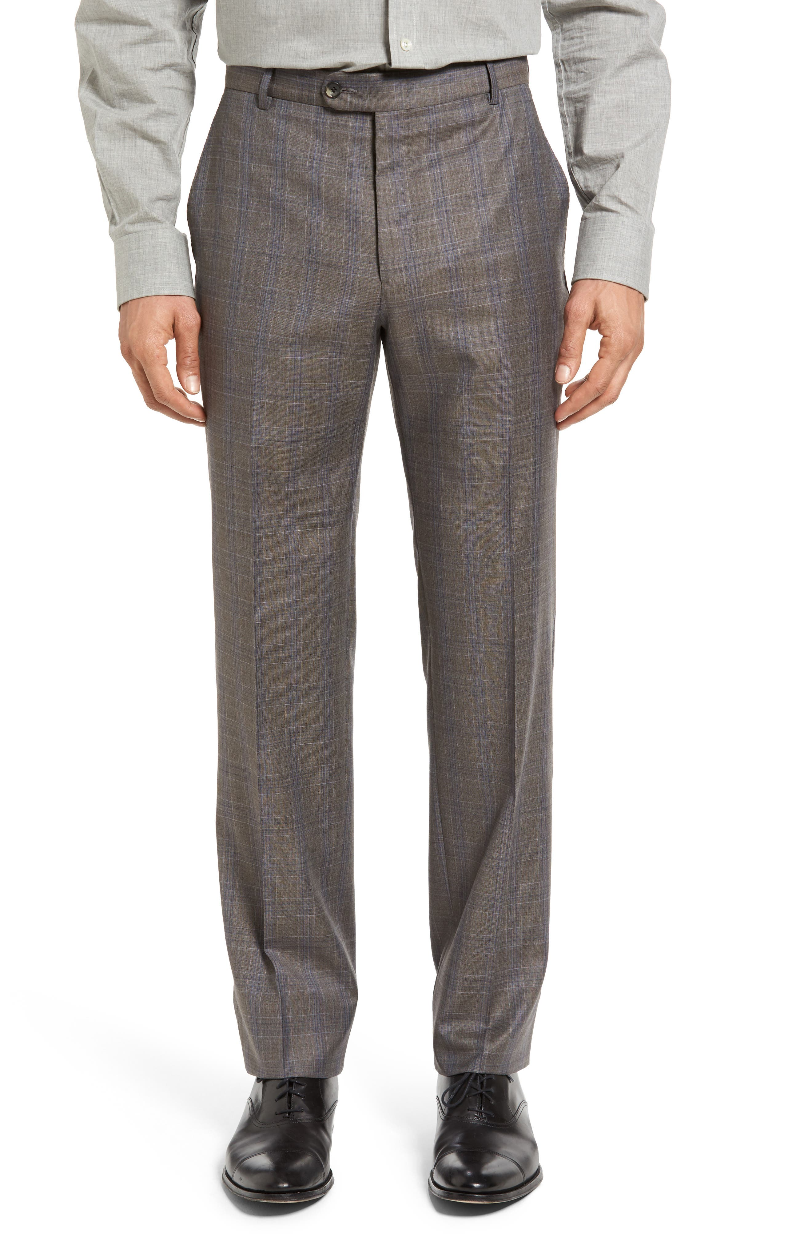Alternate Image 4  - Hickey Freeman Beacon Classic Fit Plaid Wool Suit