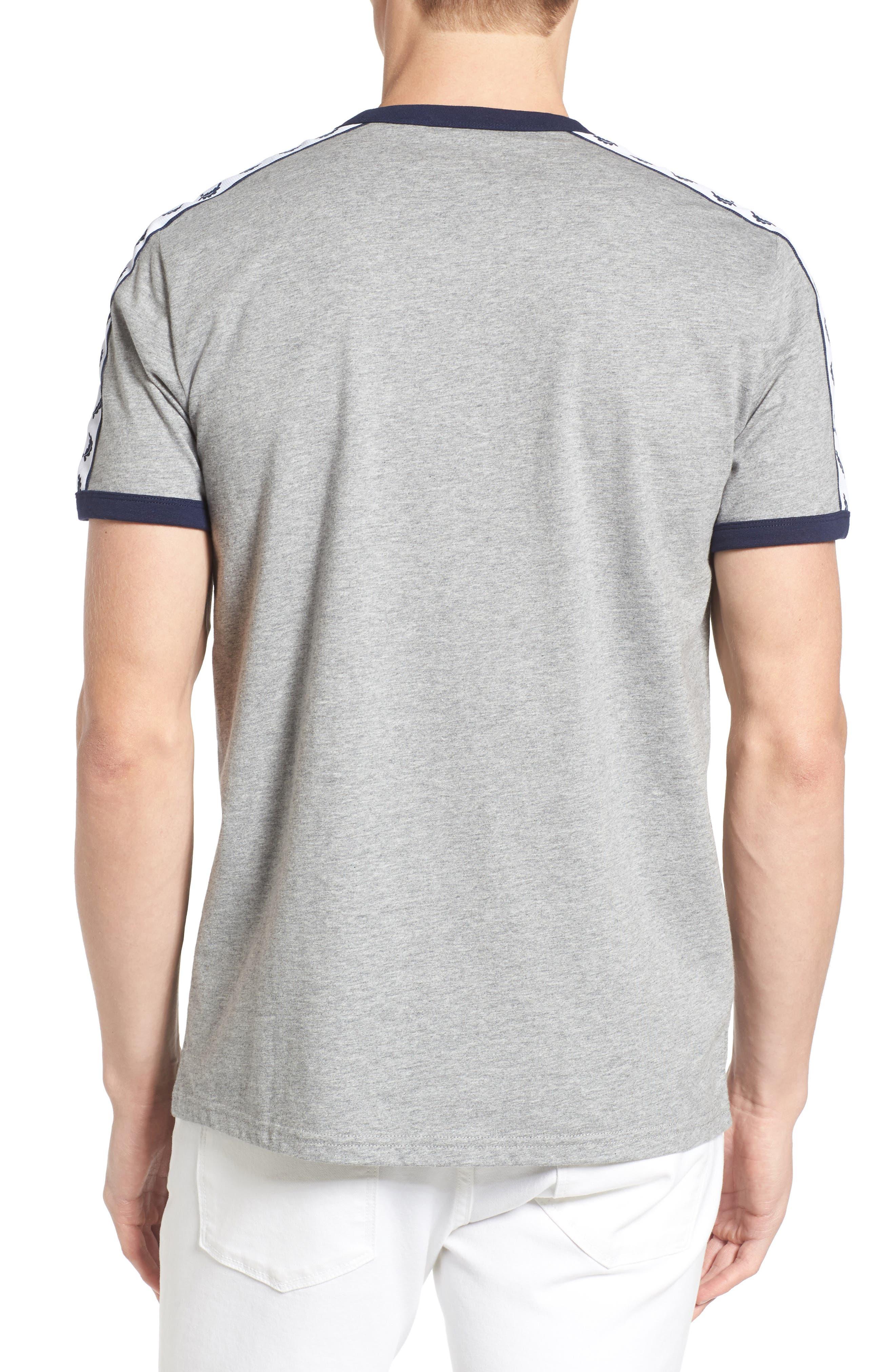 Extra Trim Fit Cotton Ringer T-Shirt,                             Alternate thumbnail 2, color,                             Steel Marl