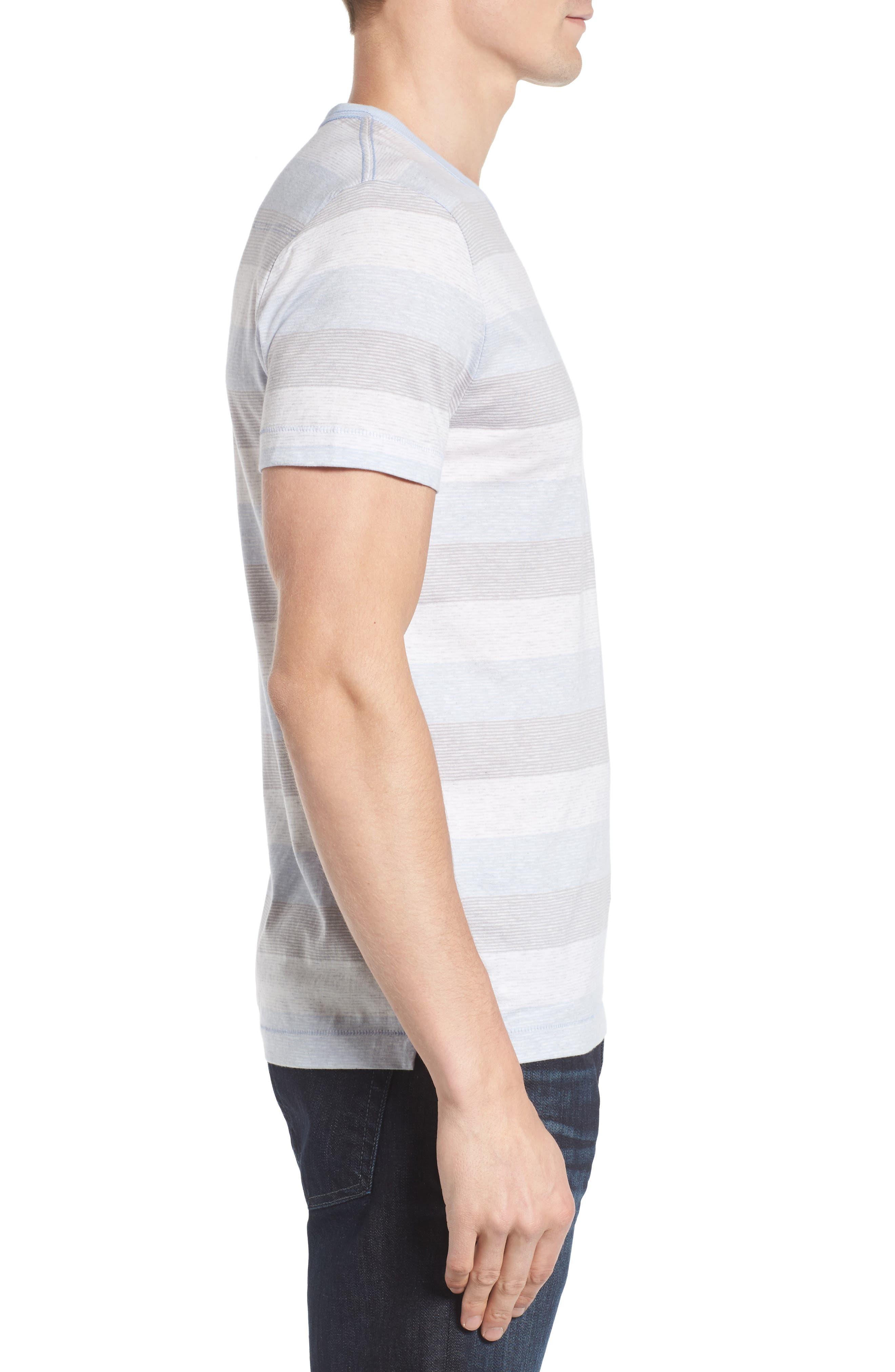 Bose Stripe T-Shirt,                             Alternate thumbnail 3, color,                             Kentucky Blue