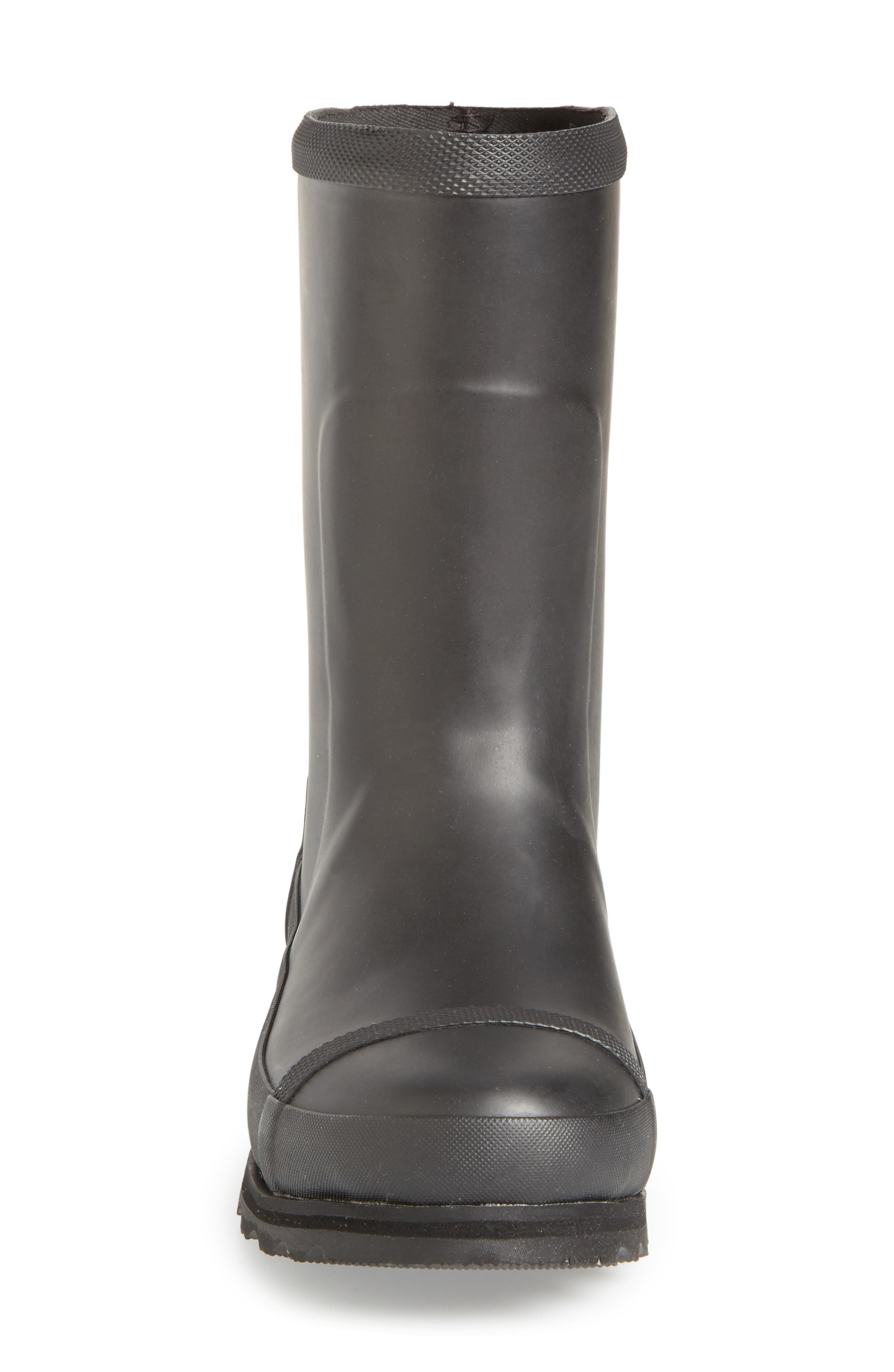 Joan Short Rain Boot,                             Alternate thumbnail 3, color,                             Black/ Sea Salt