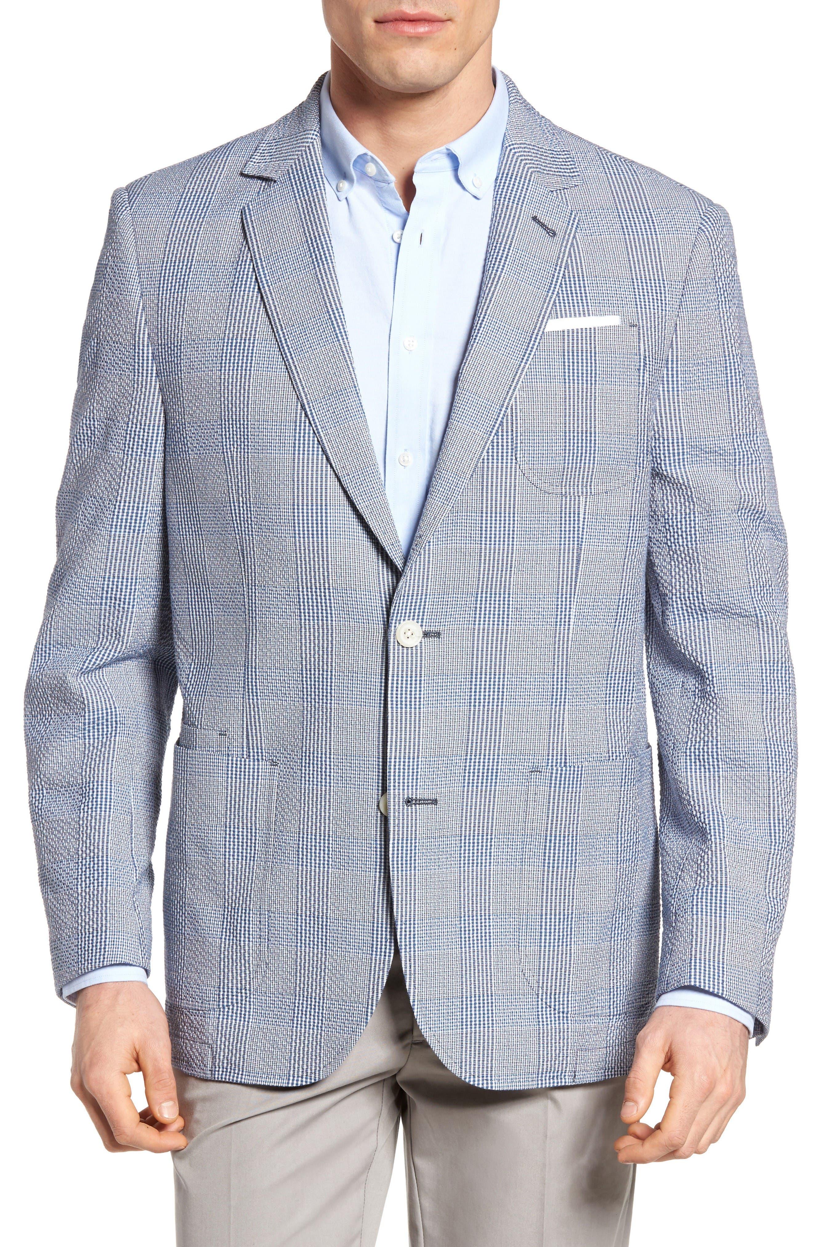 Main Image - FLYNT Babbitt Plaid Seersucker Sport Coat