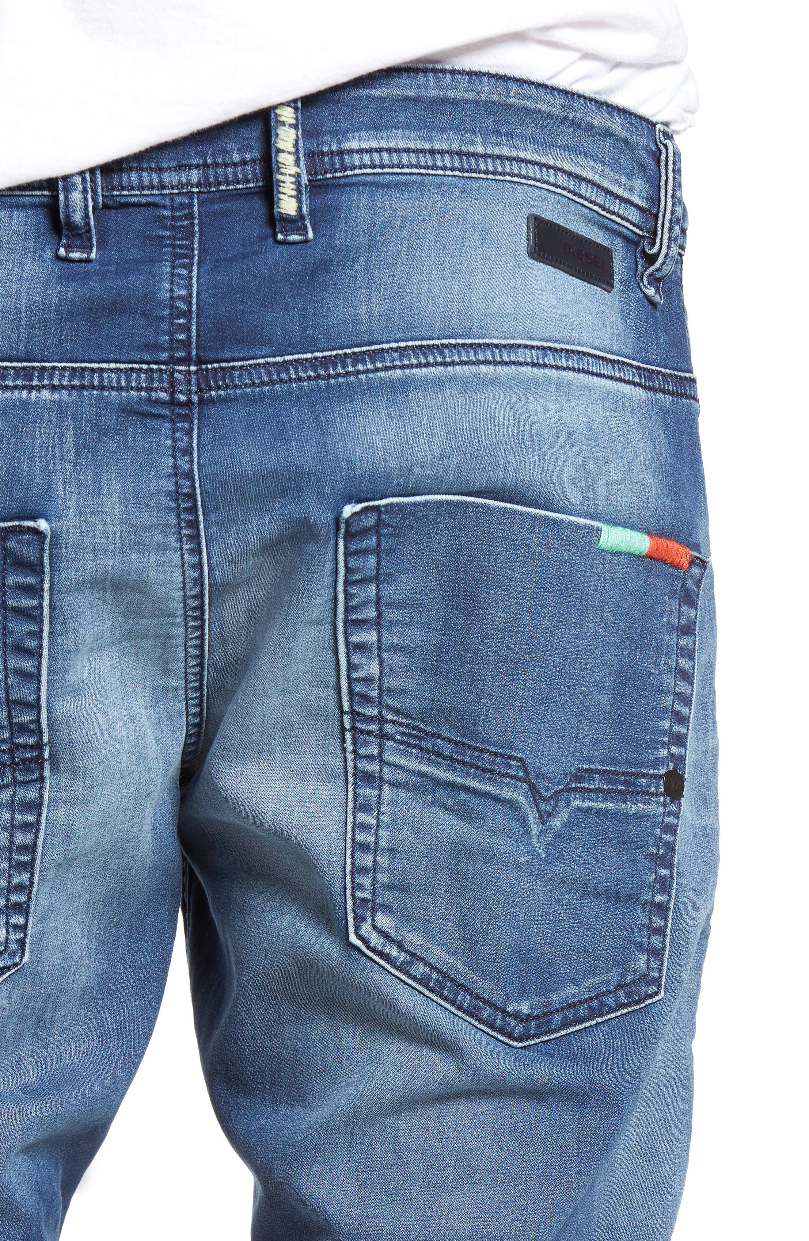 Alternate Image 4  - DIESEL Krooley Jogg Slouchy Slim Fit Jeans (0680Y)