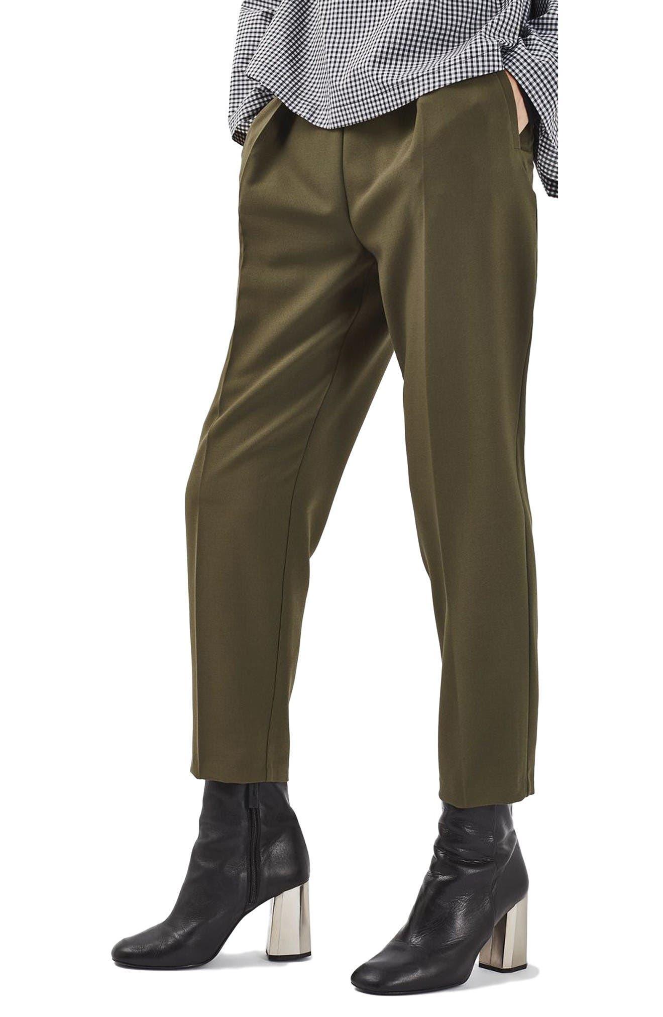 Alternate Image 1 Selected - Topshop Grommet Detail Peg Trousers