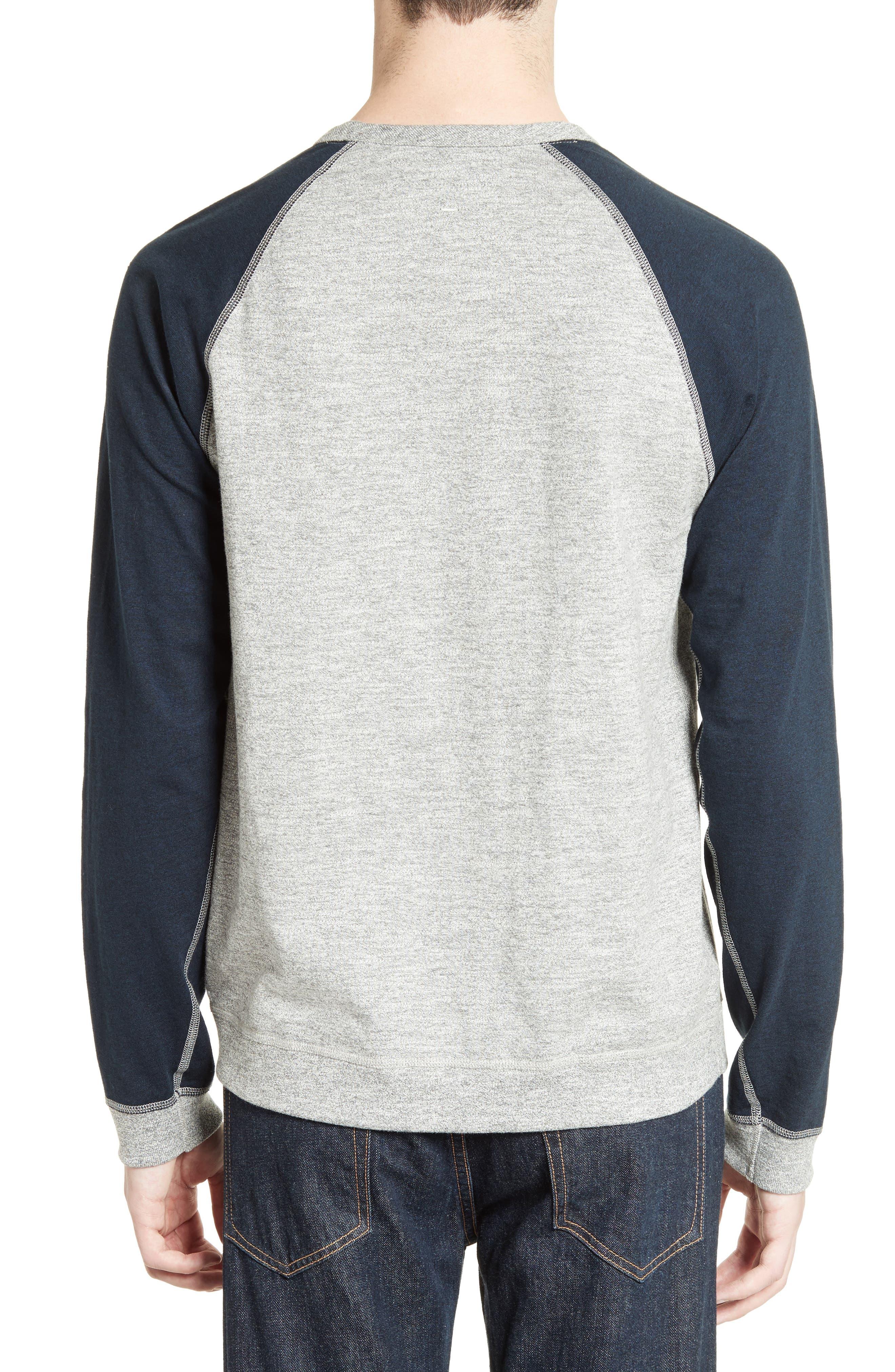 Alternate Image 2  - rag & bone Colorblock Raglan Sleeve Sweatshirt