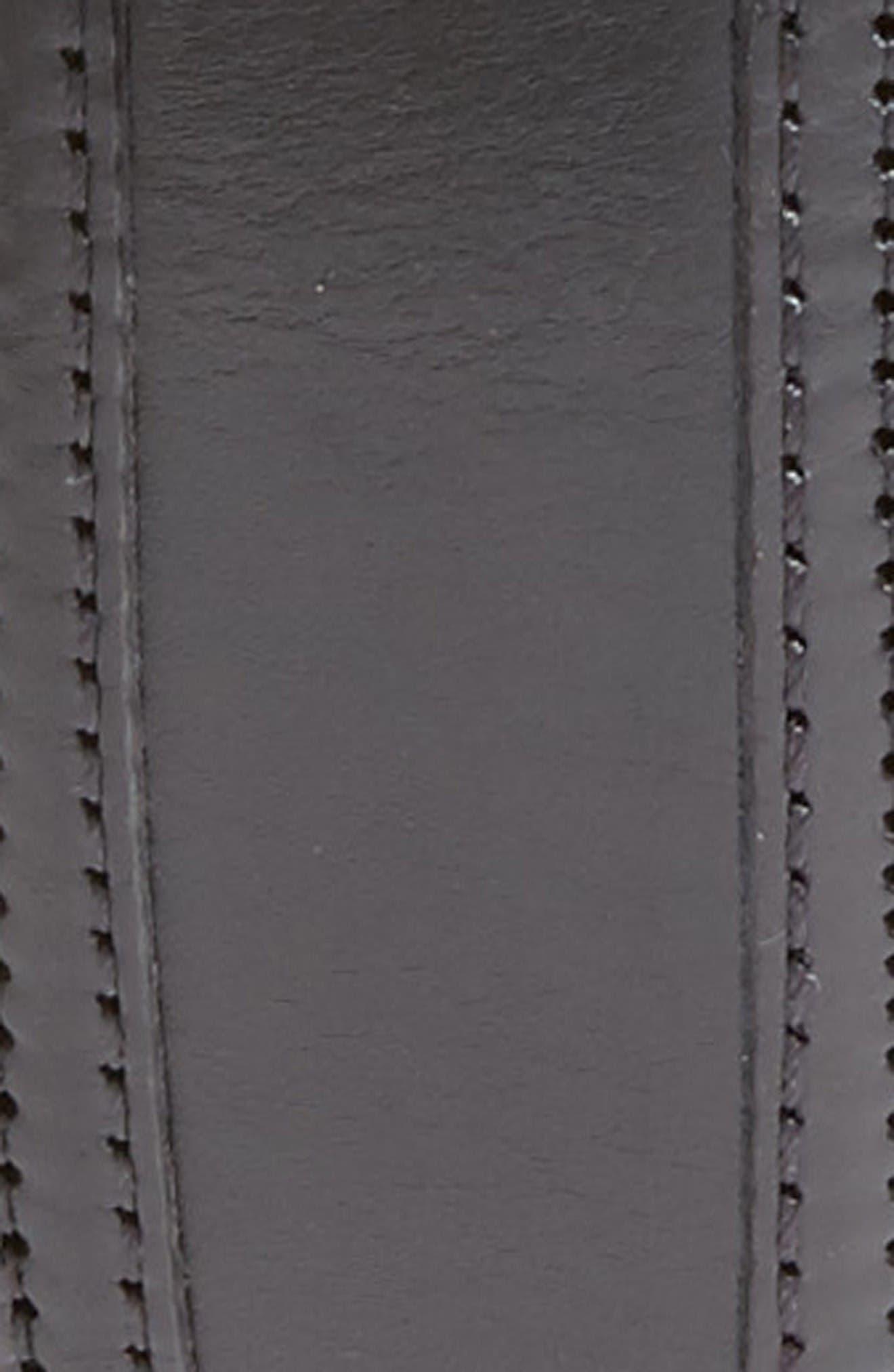 Palma Leather Belt,                             Alternate thumbnail 2, color,                             Black