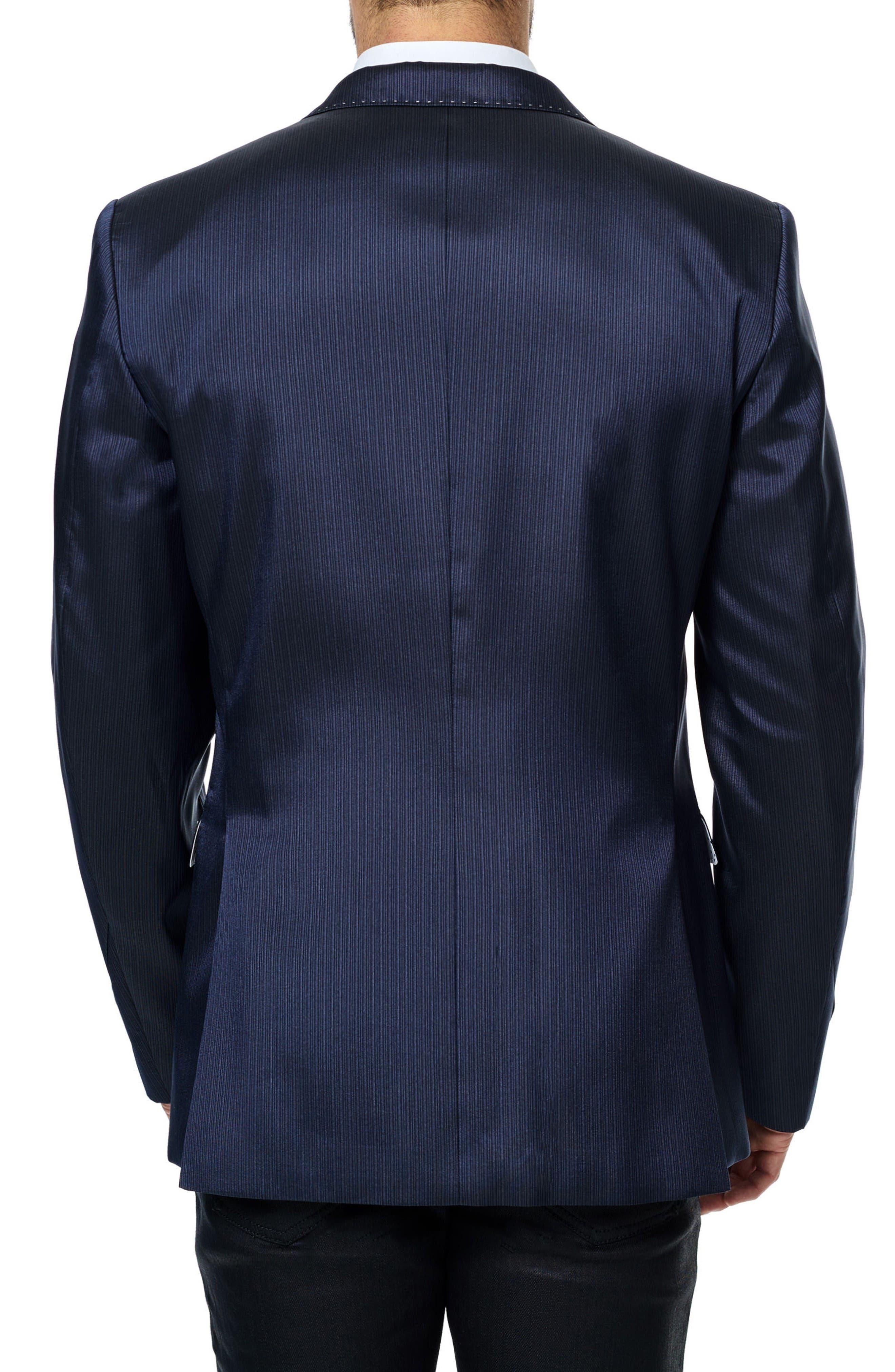 Descartes Stripe Sport Coat,                             Alternate thumbnail 2, color,                             Navy Blue