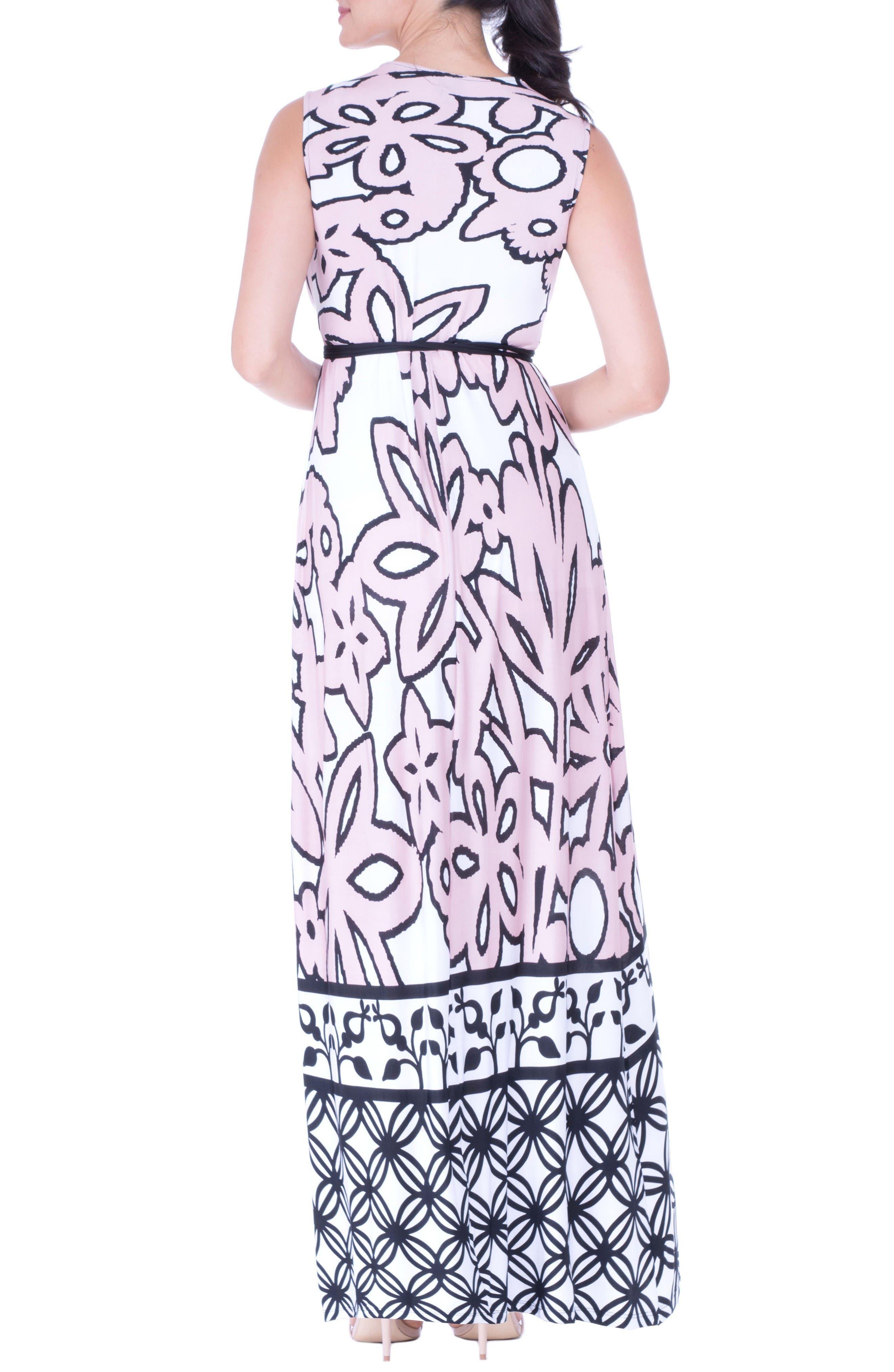 Alternate Image 2  - Olian Print Maternity Maxi Dress