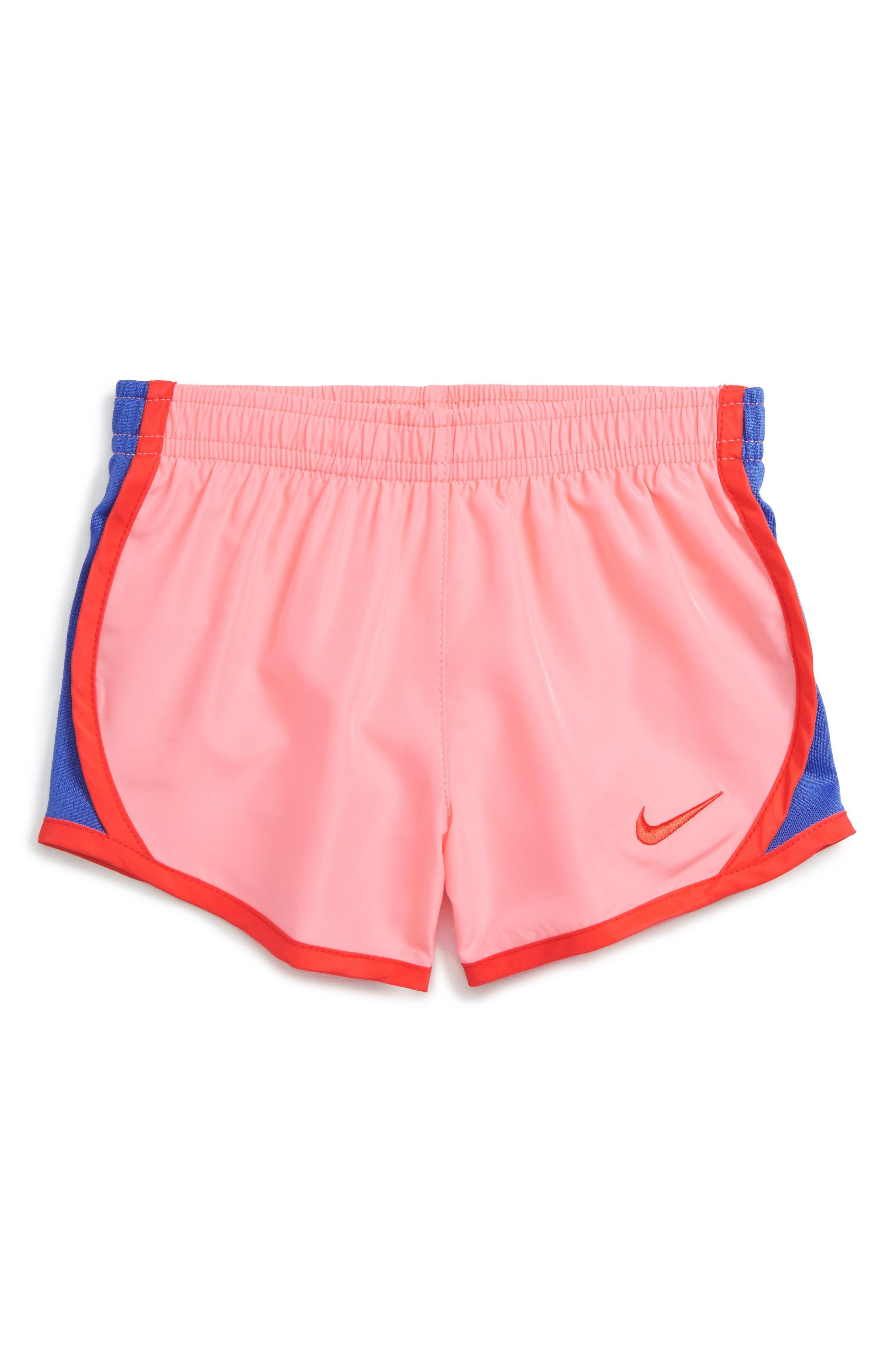 Alternate Image 1 Selected - Nike Tempo Dri-FIT Shorts (Toddler Girls & Little Girls)