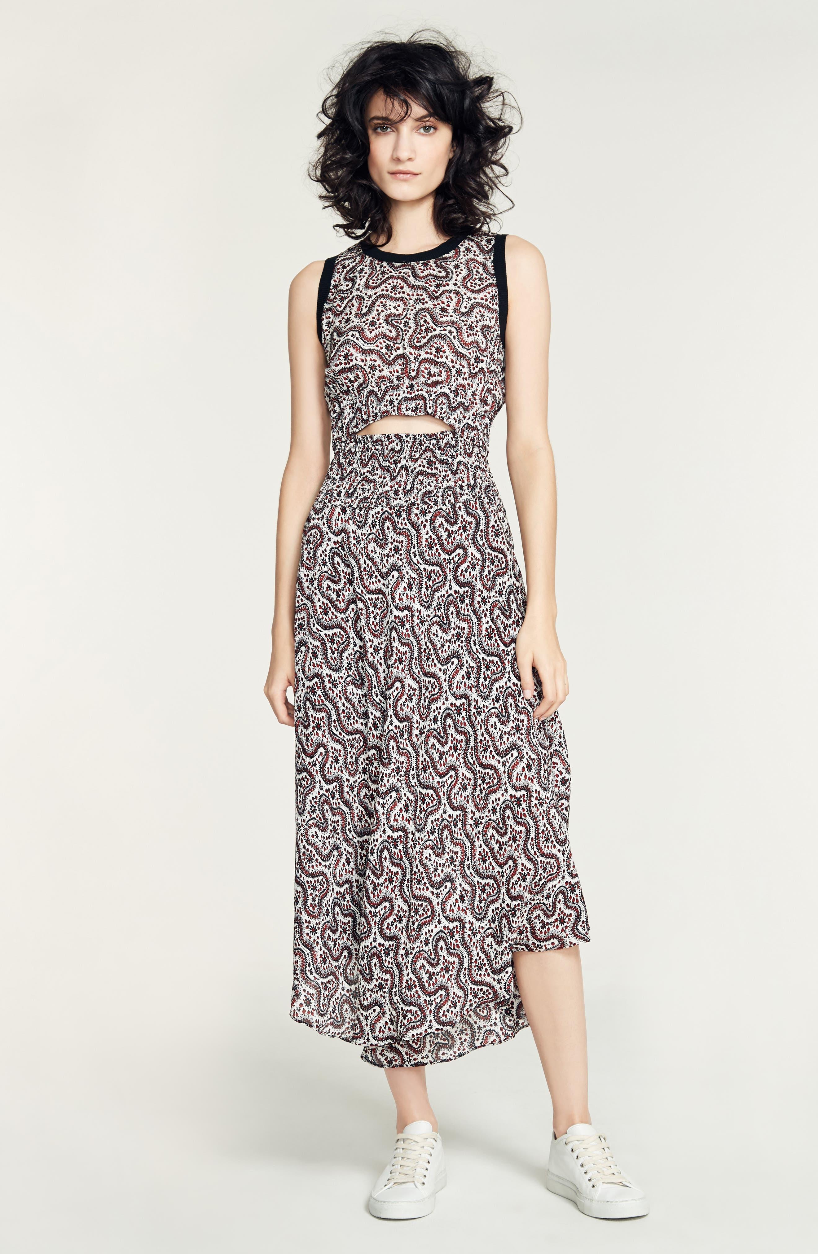 Alternate Image 2  - A.L.C. Sandra Cutout Silk Midi Dress