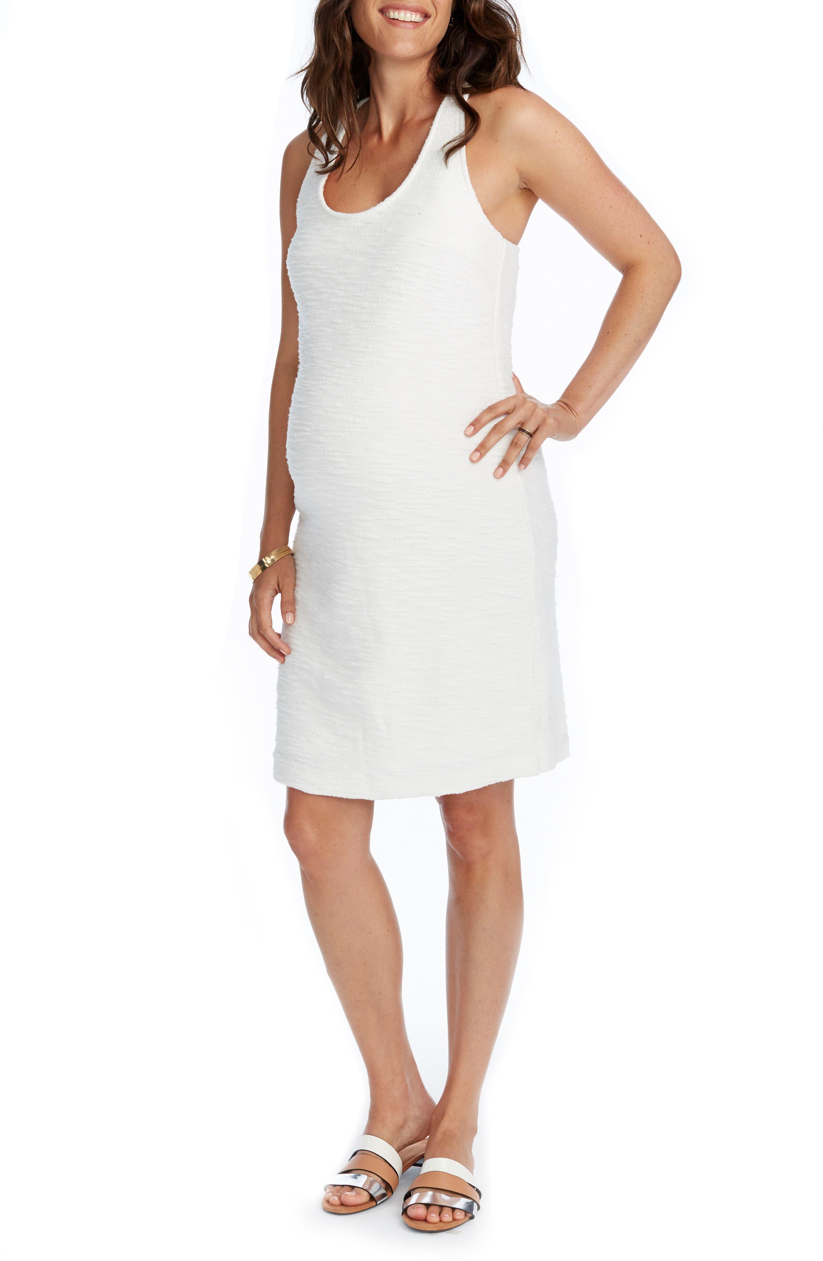 Marcela Maternity Dress,                         Main,                         color, Cream