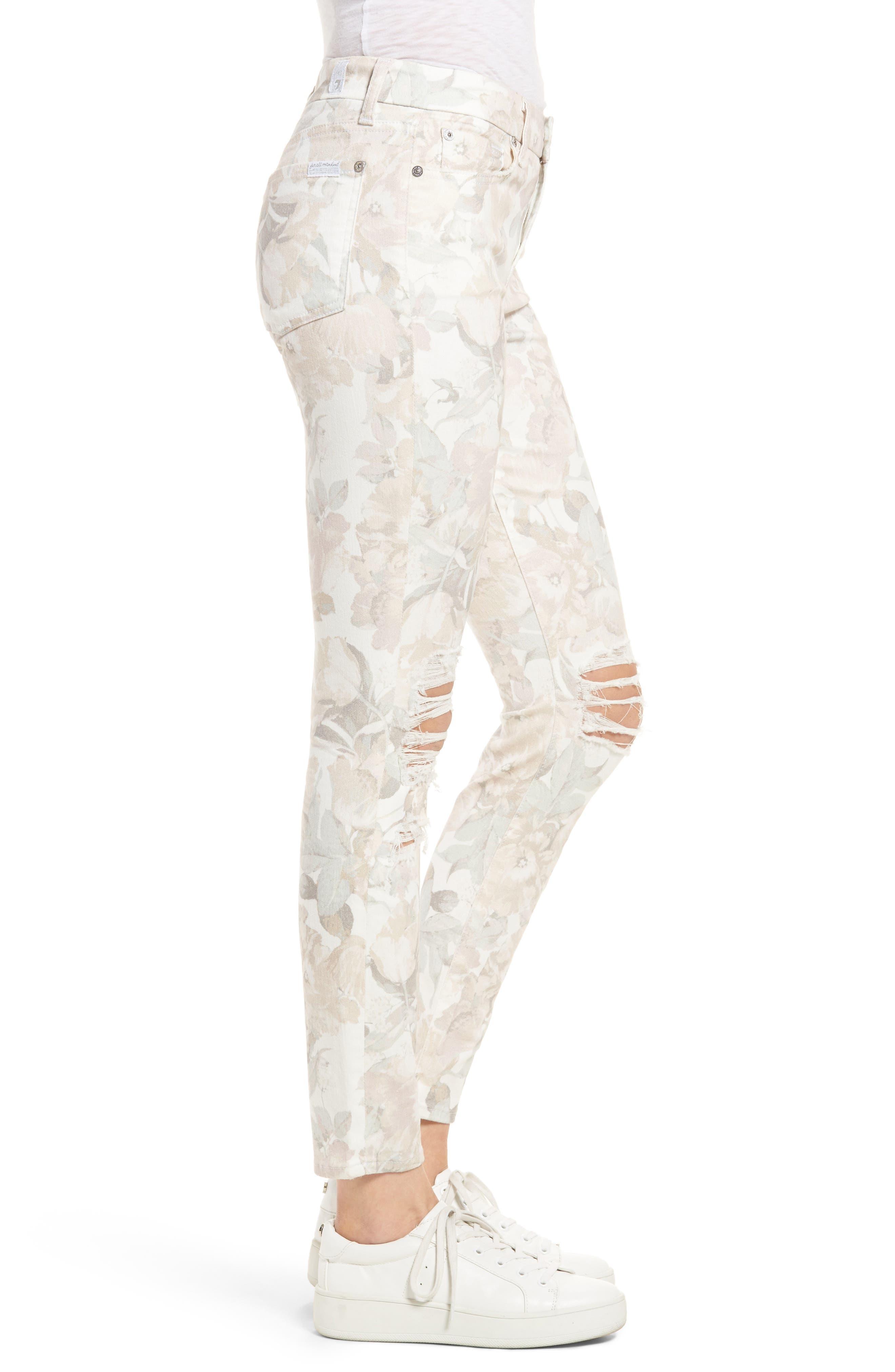 Alternate Image 3  - 7 For All Mankind® Ankle Skinny Jeans (Sydney Garden)