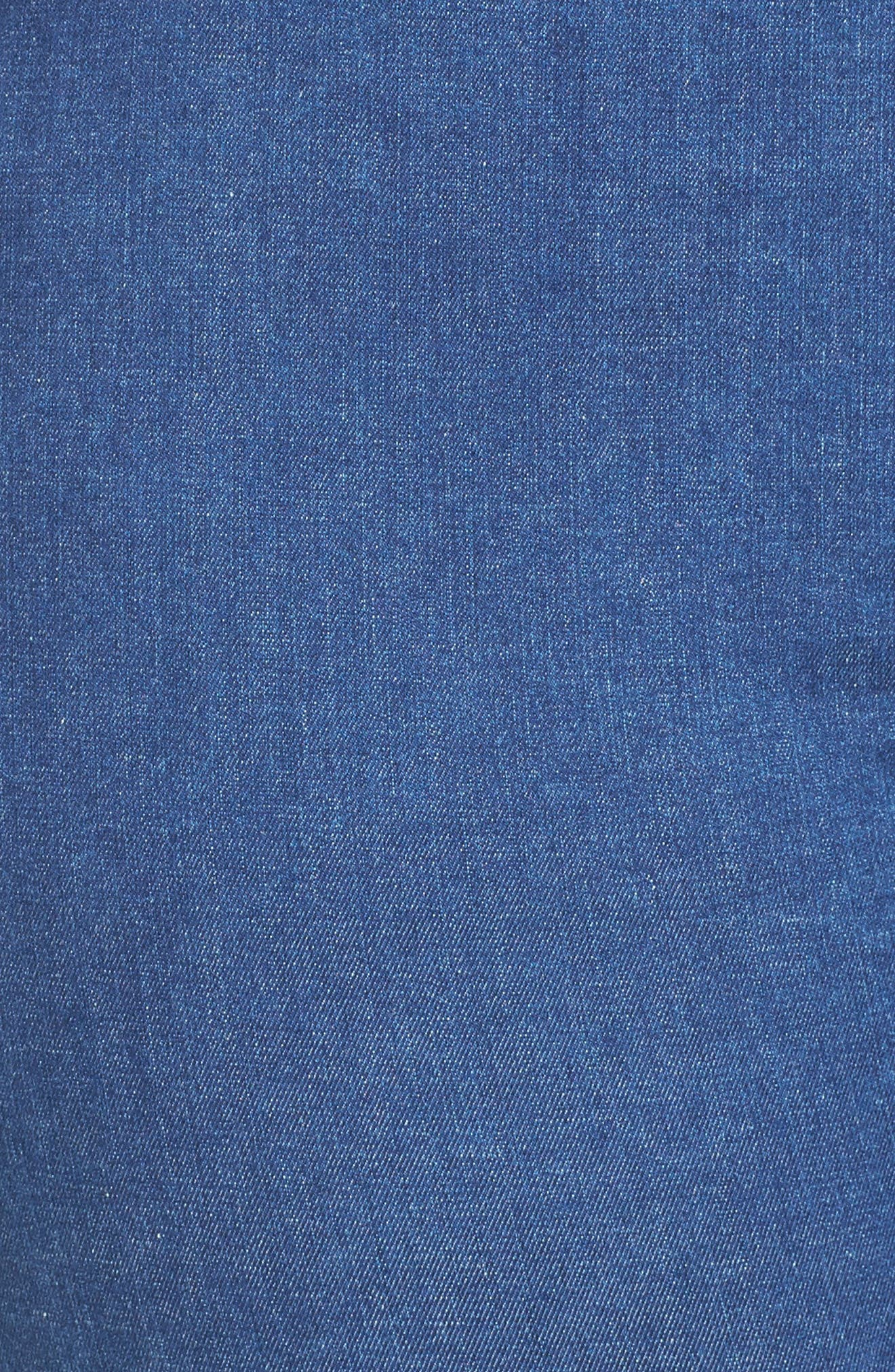 Alternate Image 5  - Foxcroft Nina Slimming Pull-On Capri Jeans (Plus Size)