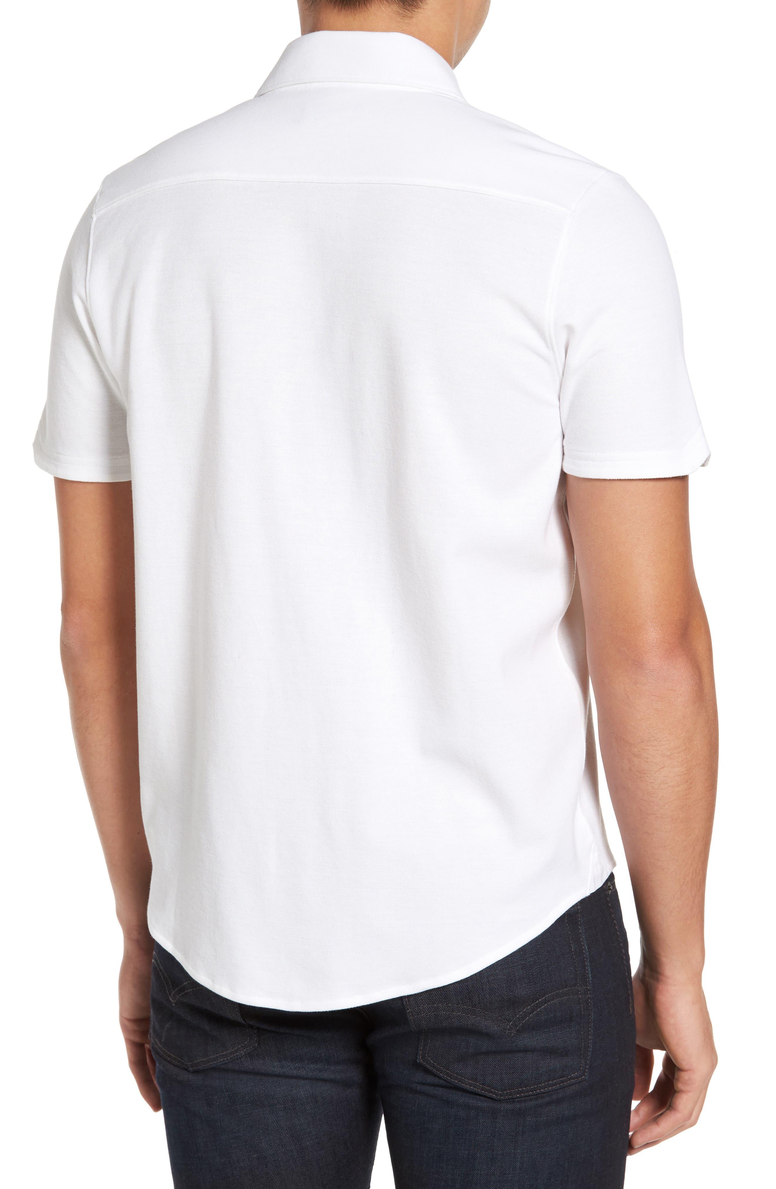 Palmetto Pima Cotton Shirt,                             Alternate thumbnail 2, color,                             White