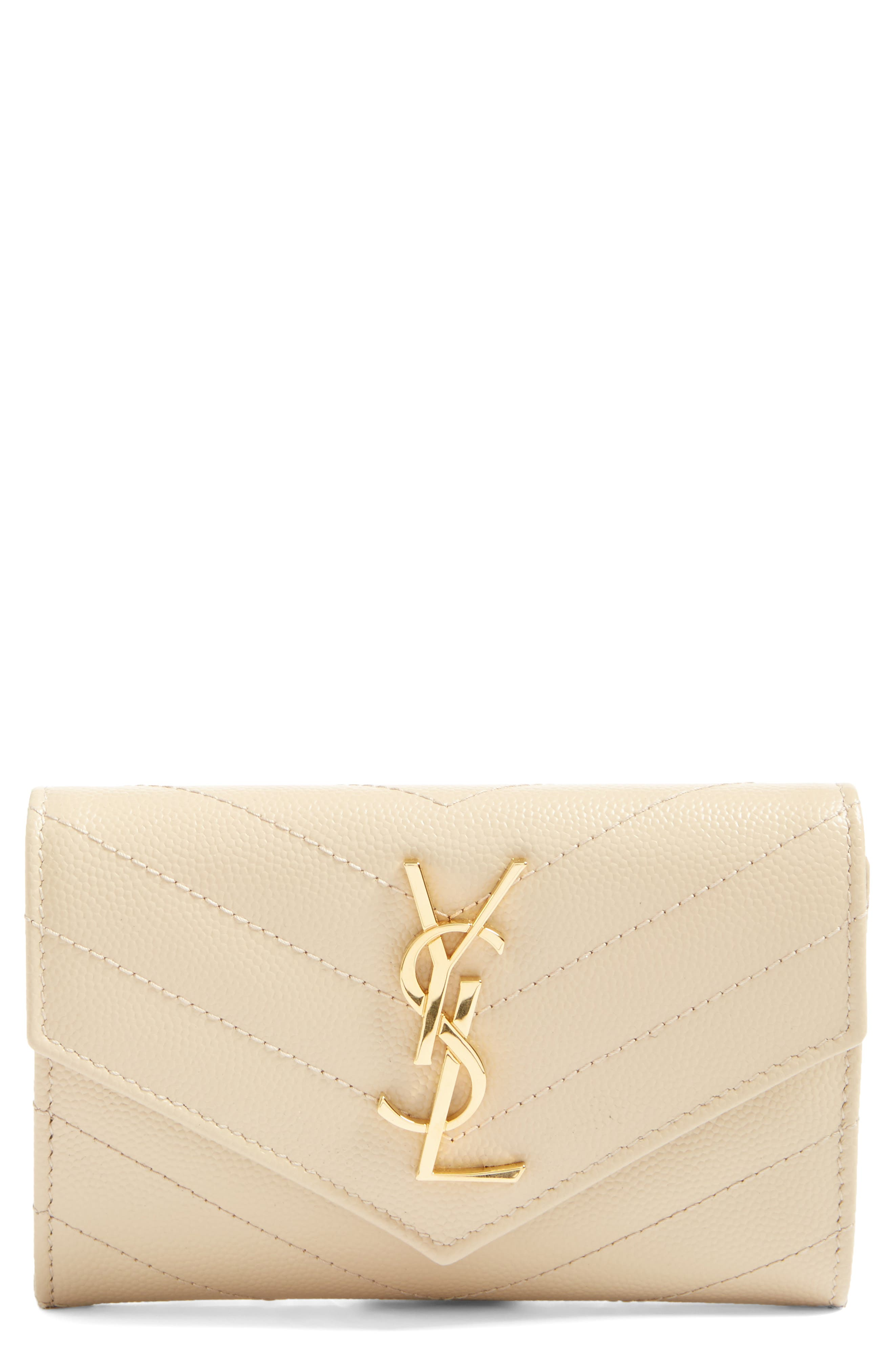 Main Image - Saint Laurent 'Monogram' Quilted Leather French Wallet