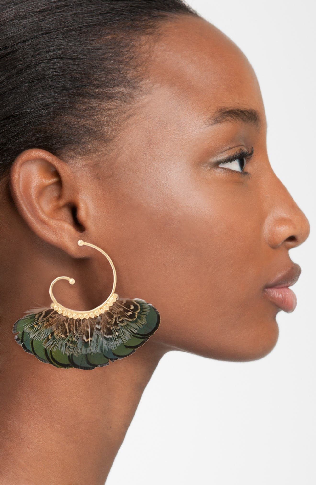 Alternate Image 2  - Gas Bijoux 'Buzios' Feather Earrings